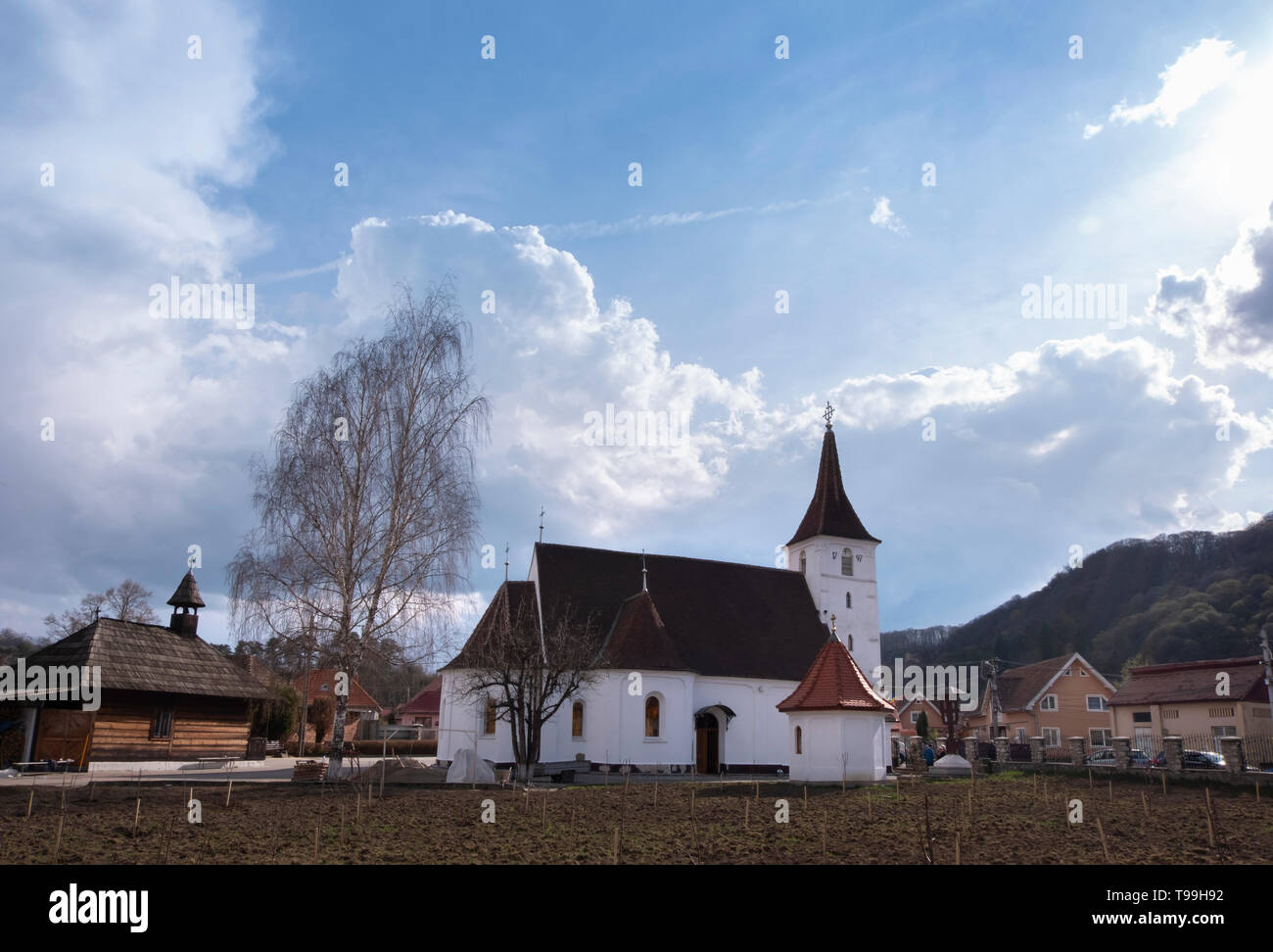 Church of the Mother of God in the Church, the oldest orthodox church in Sighisoara and the first Romanian stone church in the area, dating to 1797, o - Stock Image