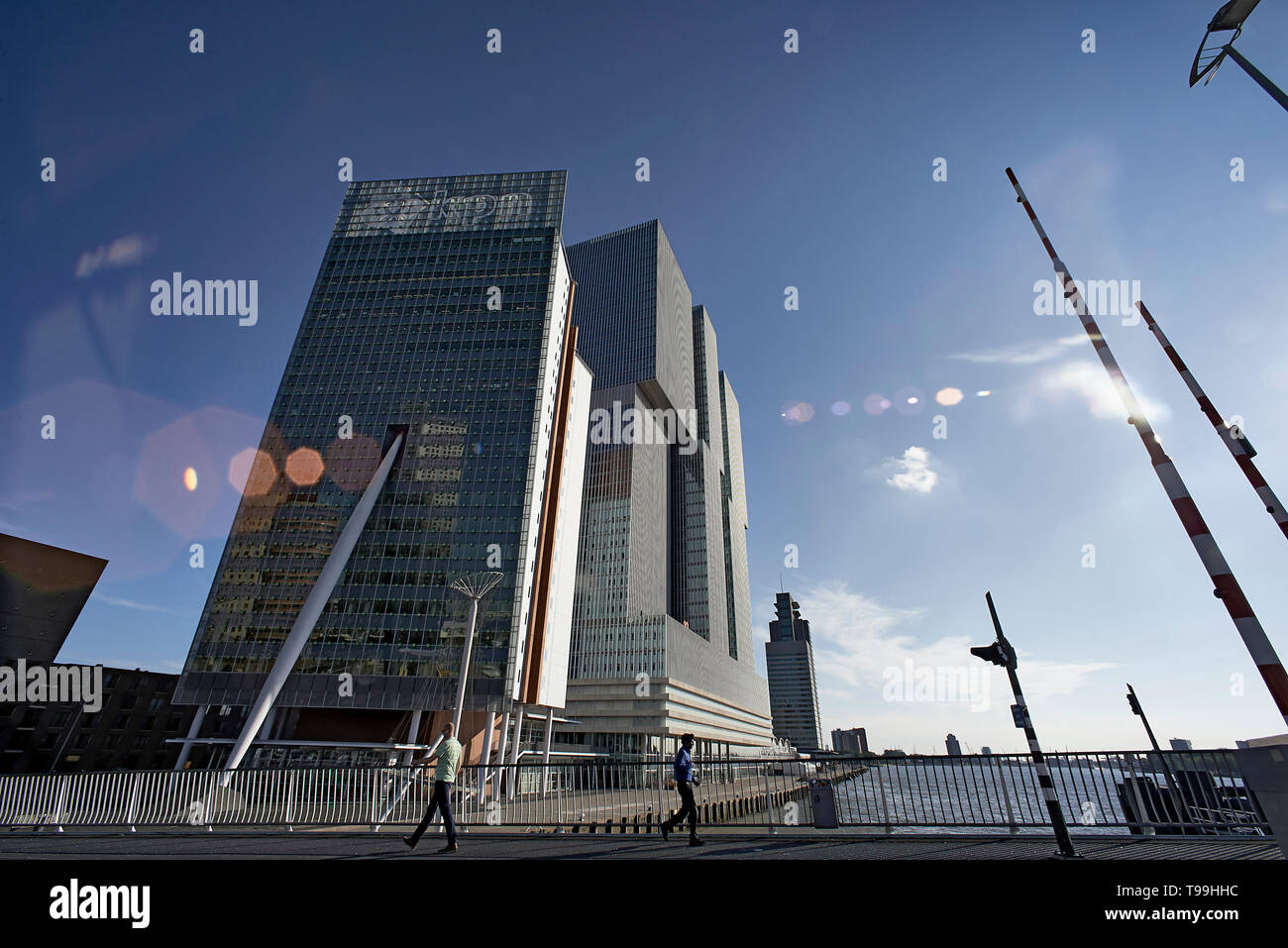 Building De Rotterdam in the city centre of Rotterdam - Stock Image