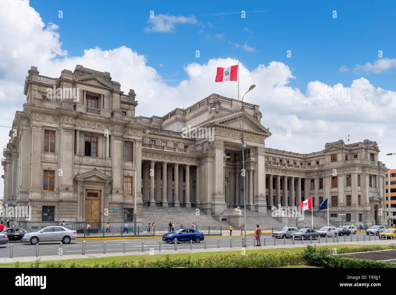 Palace of Justice (Palacio de Justicia), Paseo de la Republica, Lima, Peru, South America - Stock Image