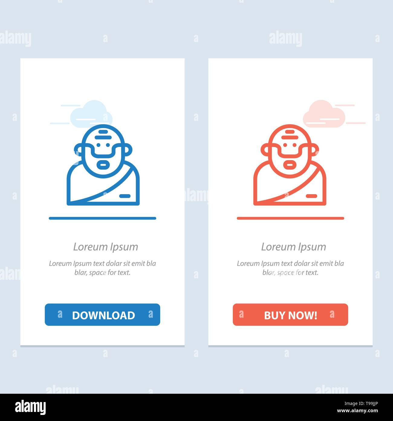 God, Greek, Mythology, Old  Blue and Red Download and Buy Now web Widget Card Template - Stock Image