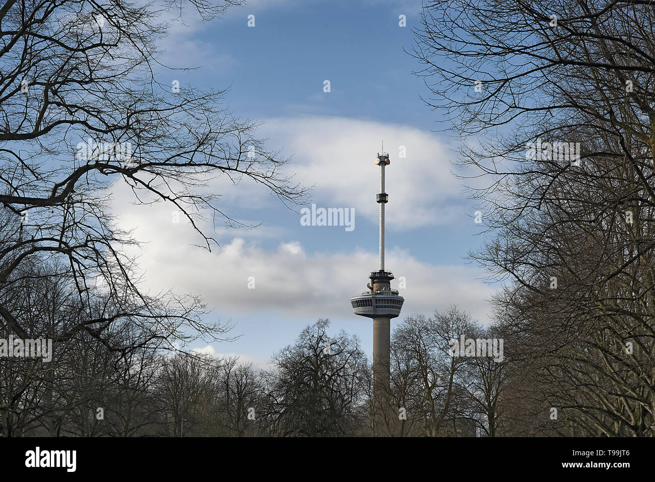 Euromast in the city centre of Rotterdam - Stock Image