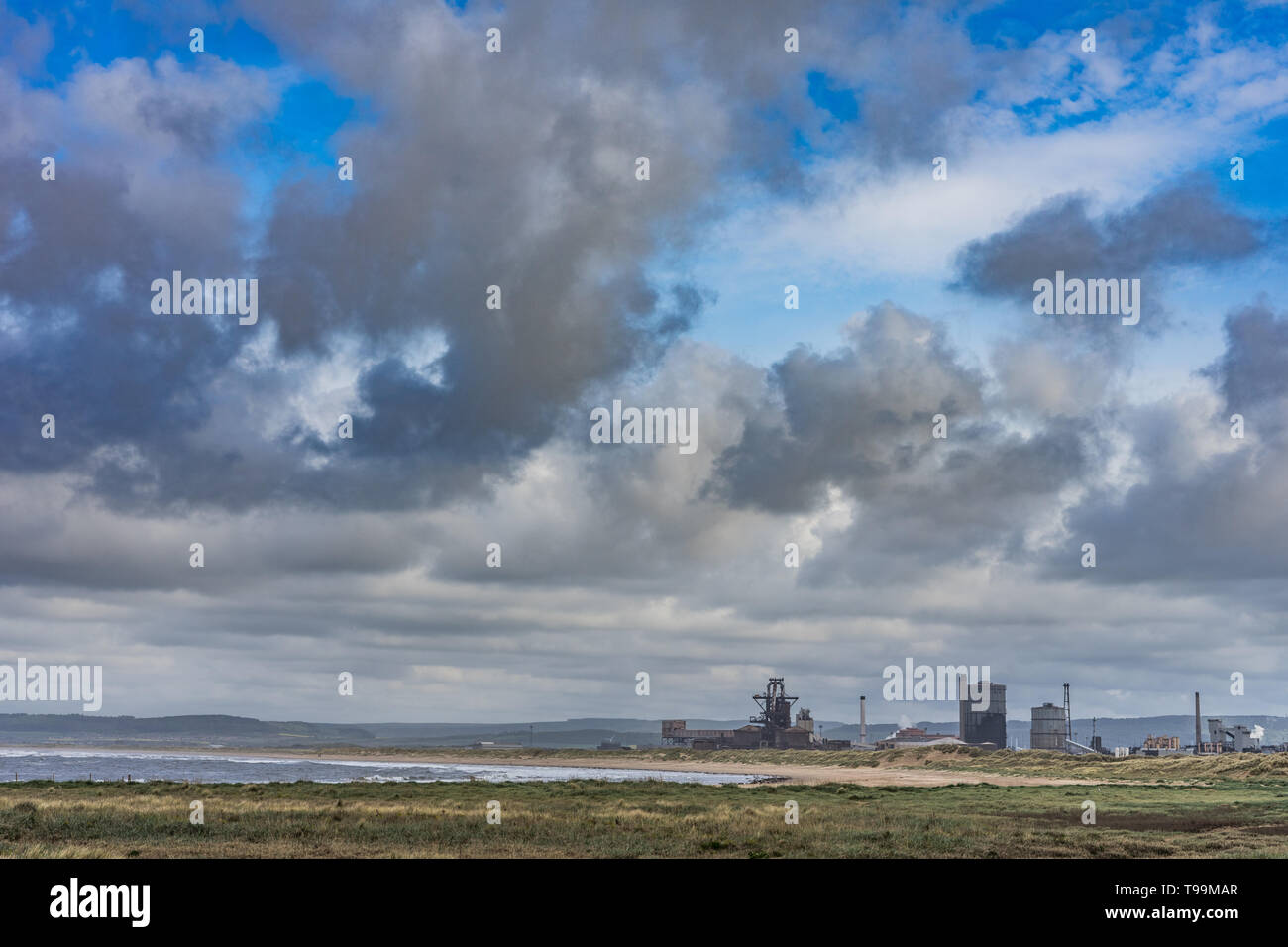 British Steel shut down and abandoned. Located on the north east coast of England. - Stock Image