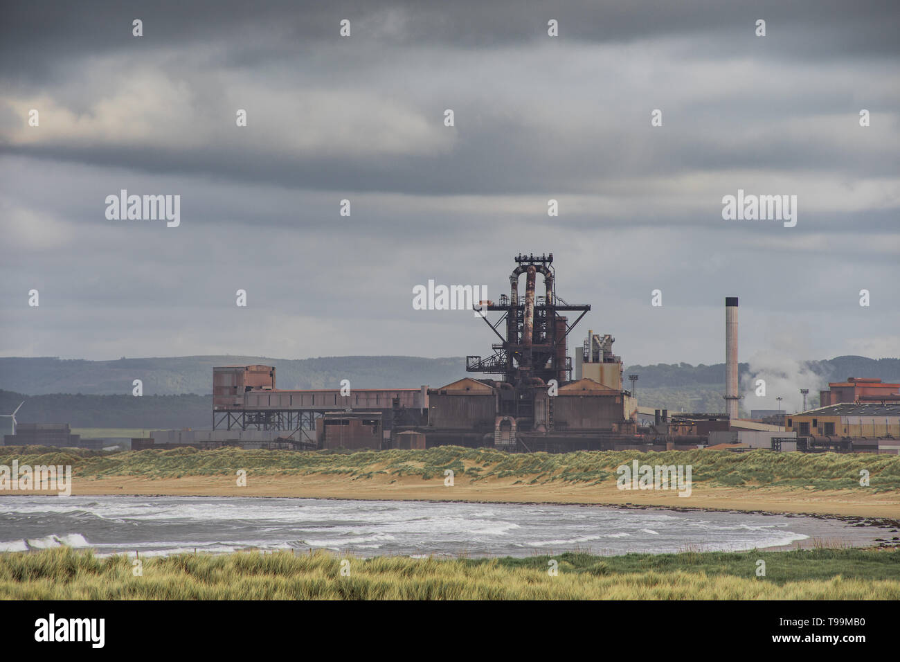 British Steel shut down and abandoned. Located on the north east coast of England. Stock Photo