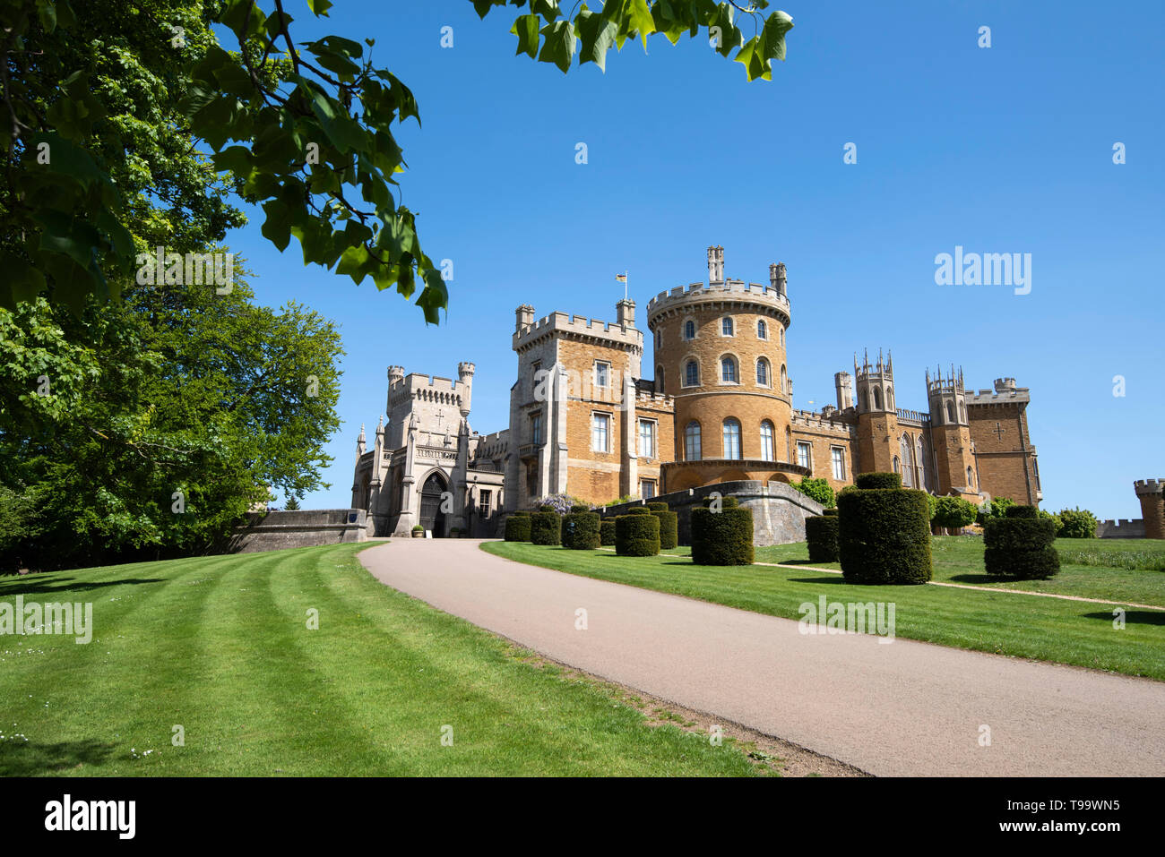Belvoir Castle, in the Vale of Belvoir Leicestershire England UK Stock Photo