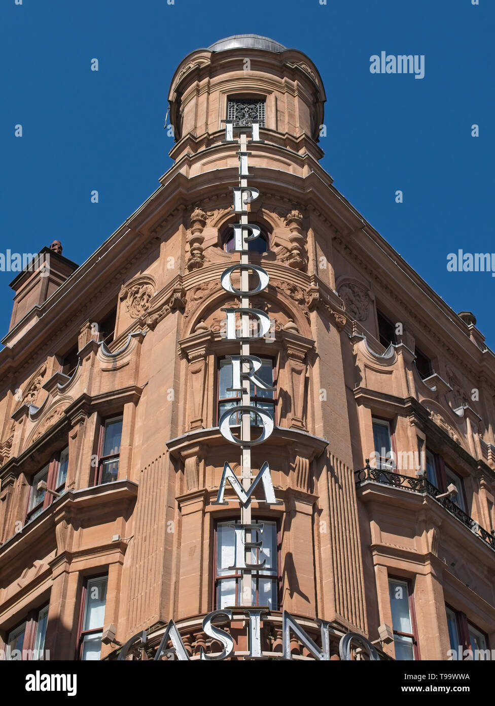 Building exterior of the famous Hippodrome Casino at Leicester Square, London, UK - Stock Image