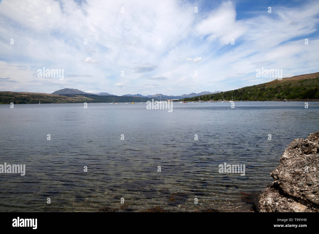 View of the Gareloch in Argyll, Scotland - Stock Image