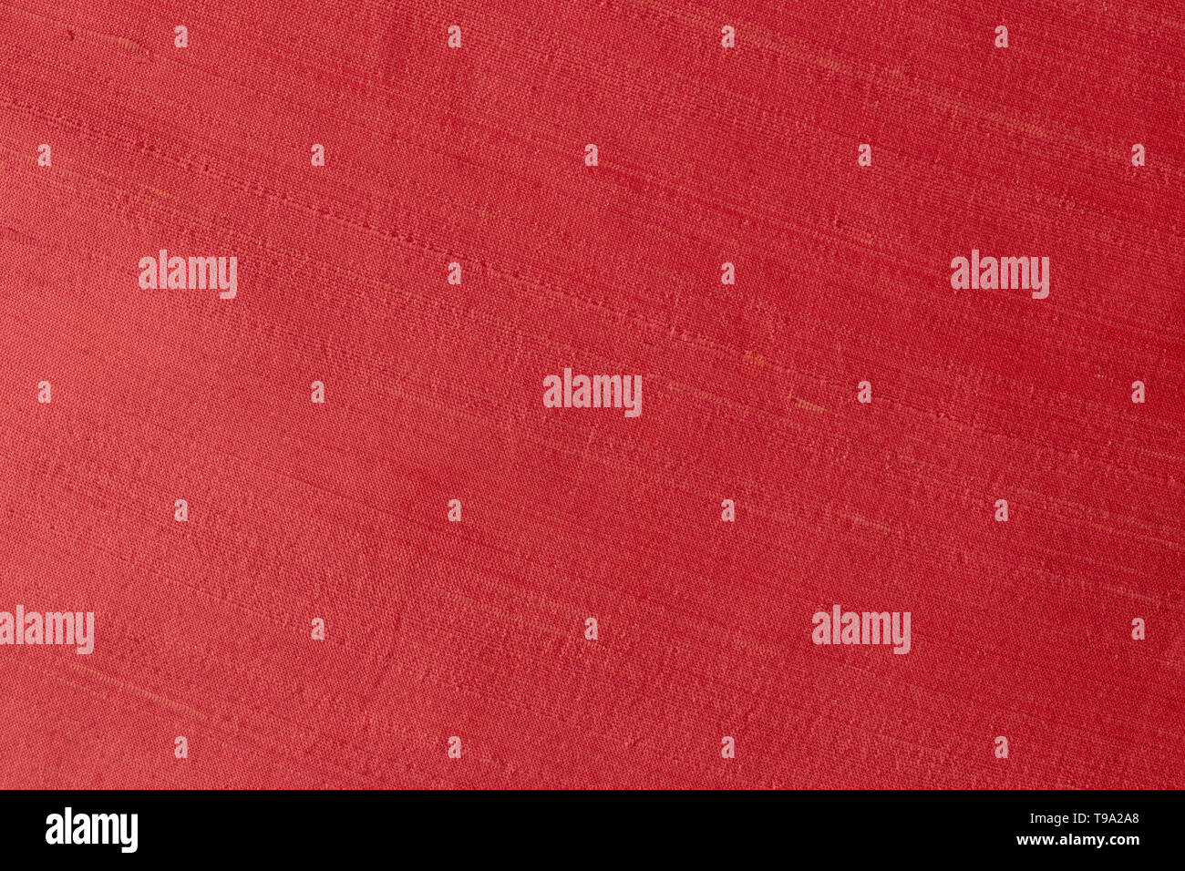 Close up of a woolen fabric of red violet color. Abstract canvas background, empty template. - Stock Image