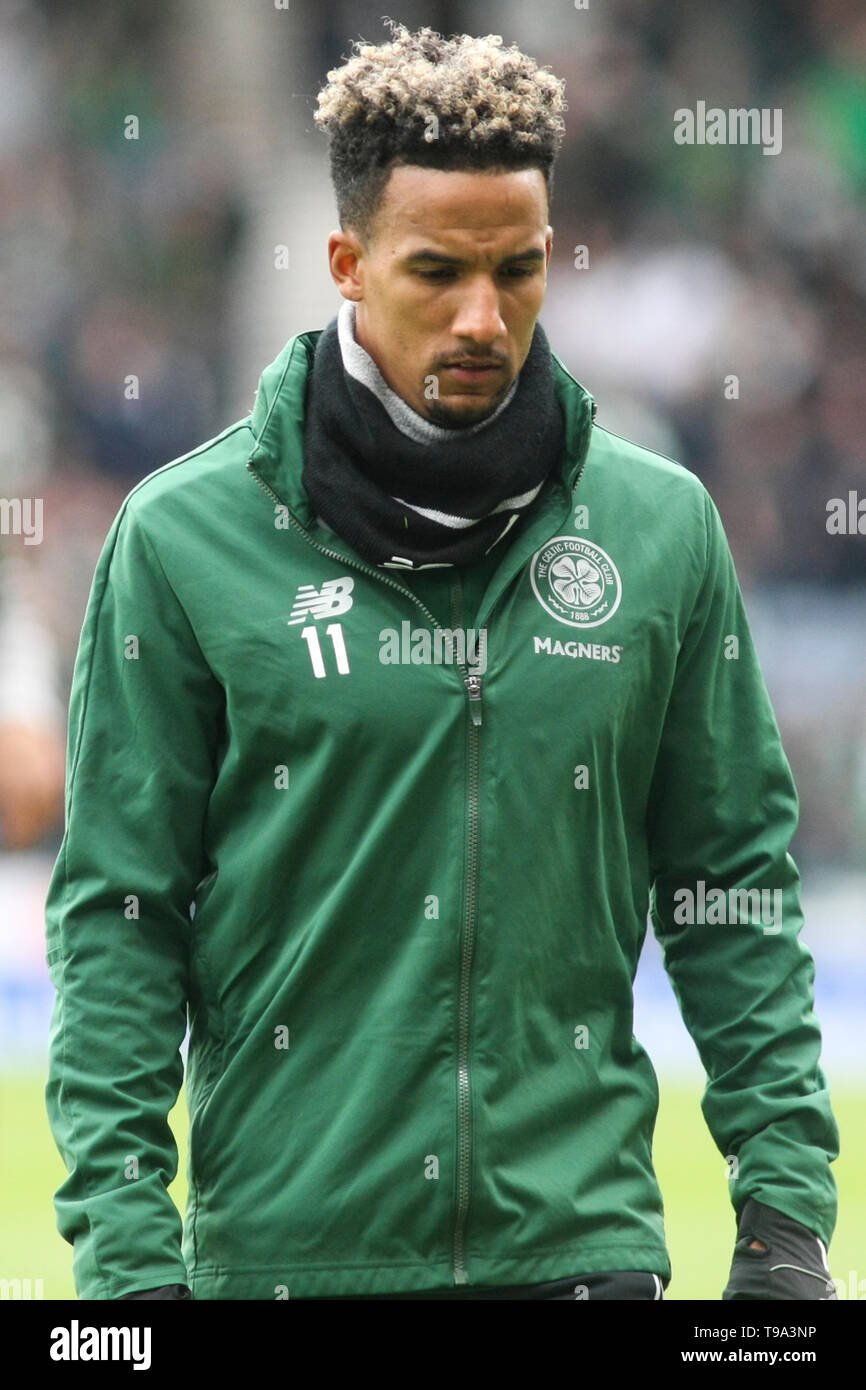 Glasgow, Scotland - April 14. Scott Sinclair of Celtic during the William Hill Scottish Cup semi final between Celtic and Aberdeen - Stock Image