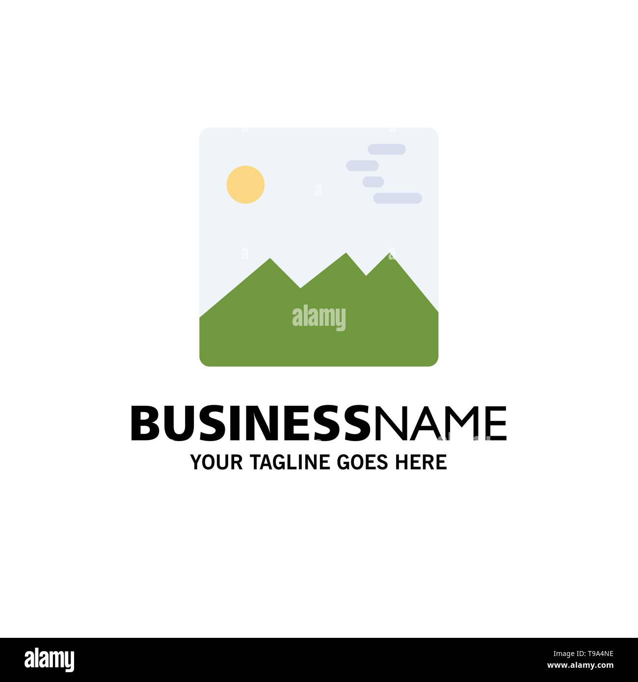 Gallery, Image, Picture, Canada Business Logo Template. Flat Color - Stock Image