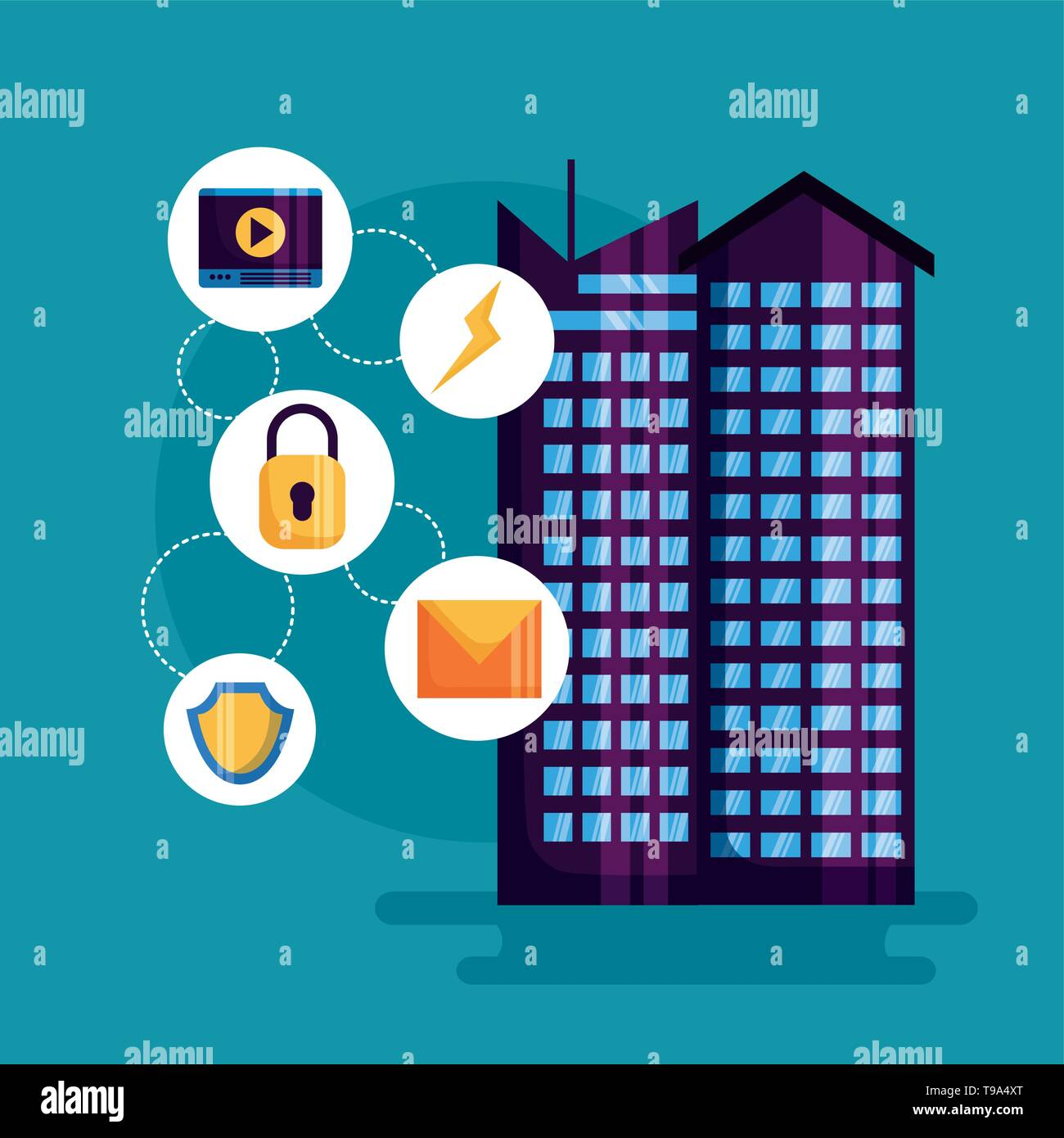 smart city design Stock Vector