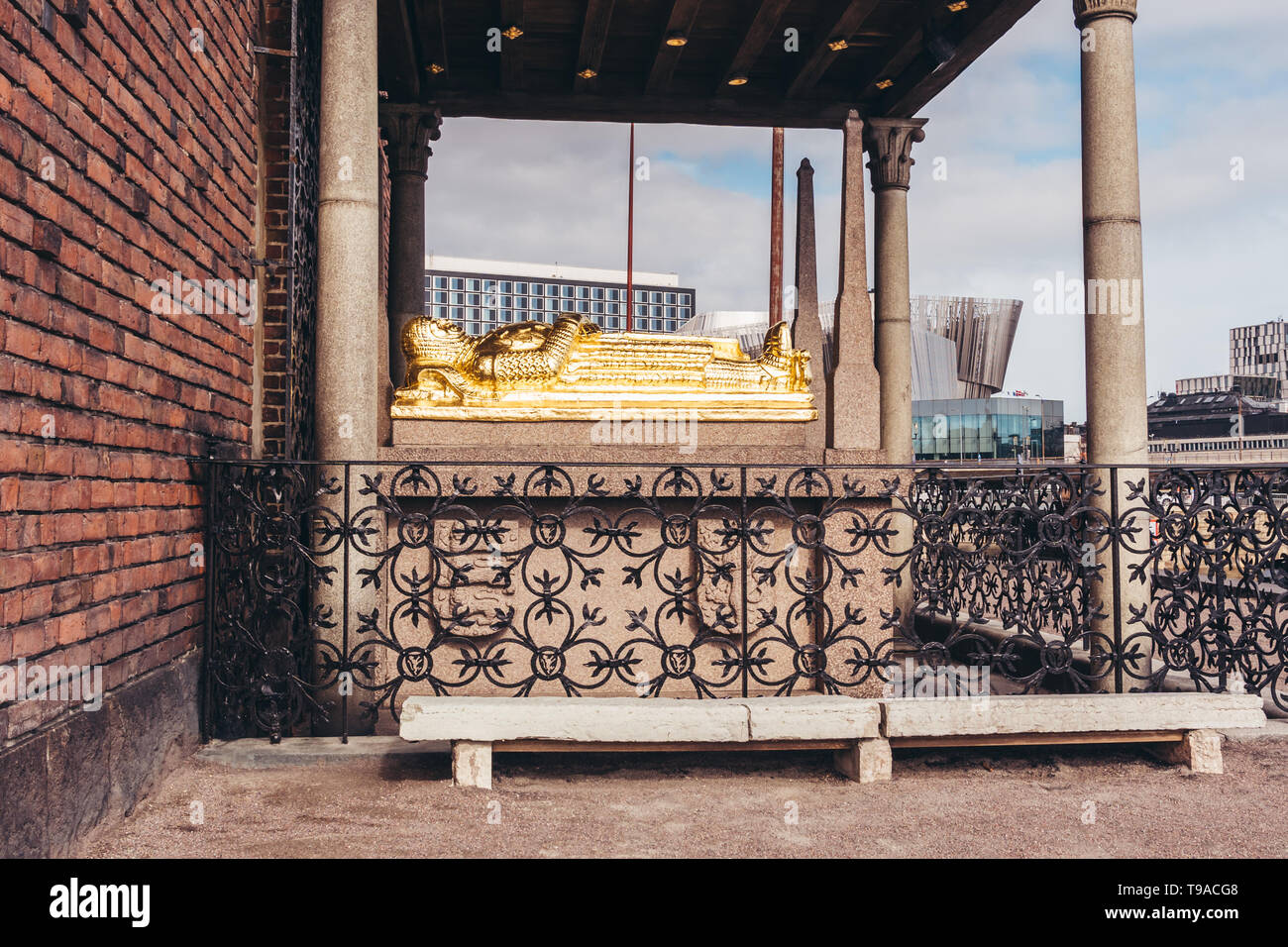 Editorial 03.27.2019 Stockholm Sweden Tomb of Birger Jarl, founder of the city, at the City Hall of Stockholm - Stock Image