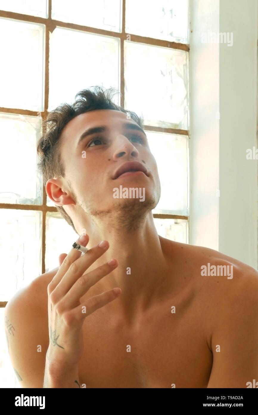 Bisexual man - attitude, posture and social life. - Stock Image