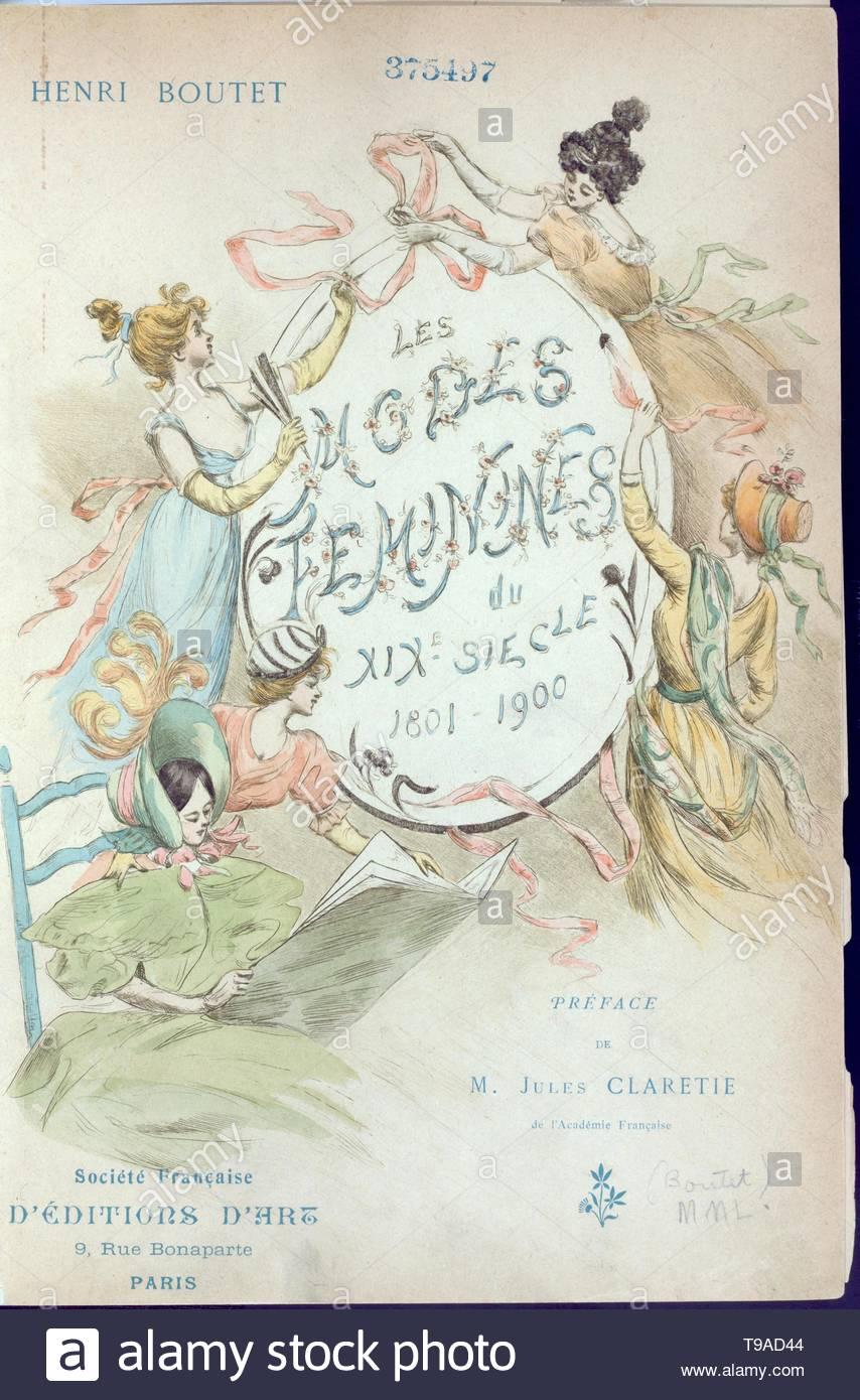 Boutet,Henri,1851-1919-Les modes féminines du XIXe siècle   , [Frontispiece] - Stock Image