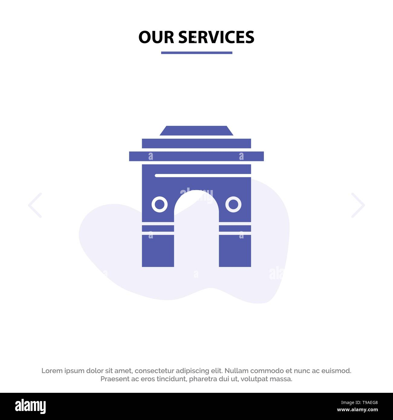 Our Services Culture, Global, Hinduism, India, Indian, Srilanka, Temple Solid Glyph Icon Web card Template - Stock Image