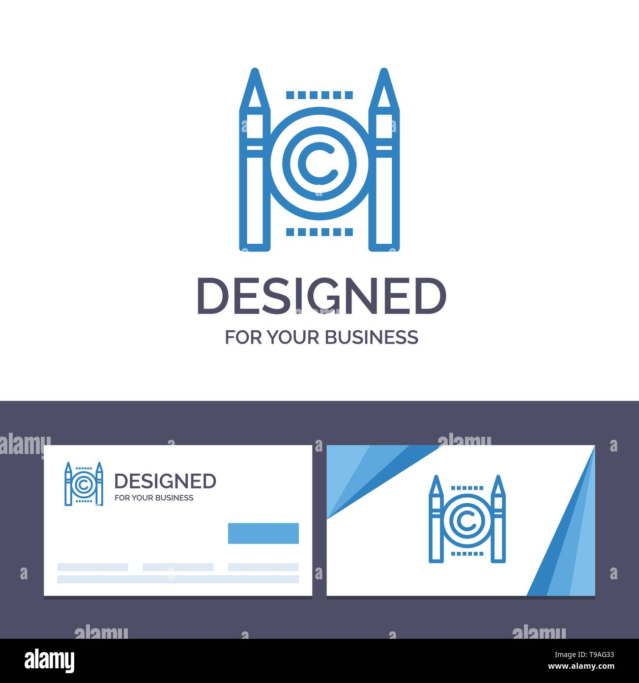 Creative Business Card and Logo template Business, Conflict, Copyright, Digital Vector Illustration - Stock Image