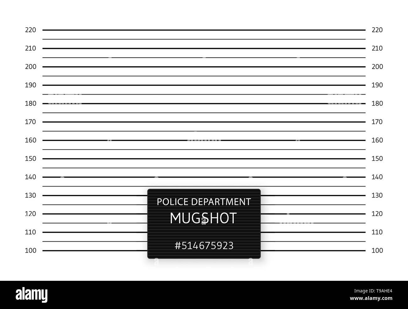 Police lineup or mugshot background. Vector illustration. - Stock Image