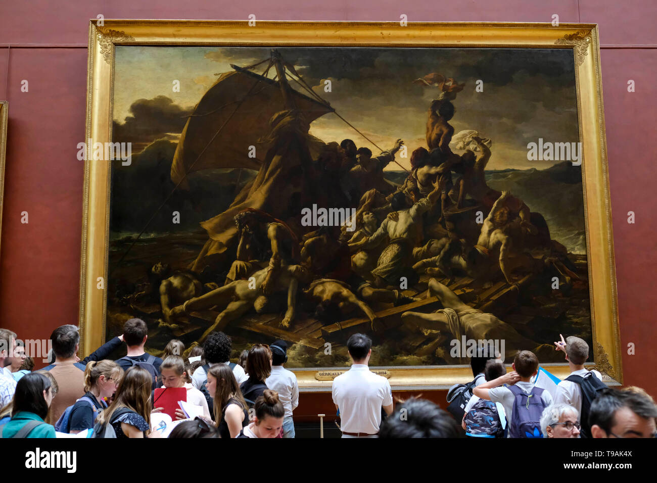 Beijing, France. 15th May, 2019. People view the Radeau de la Meduse, or the Raft of the Medusa by Theodore Gericault displayed at the Louvre Museum in Paris, France, May 15, 2019. Saturday marks the International Museum Day. Credit: Alexandre Karmen/Xinhua/Alamy Live News Stock Photo
