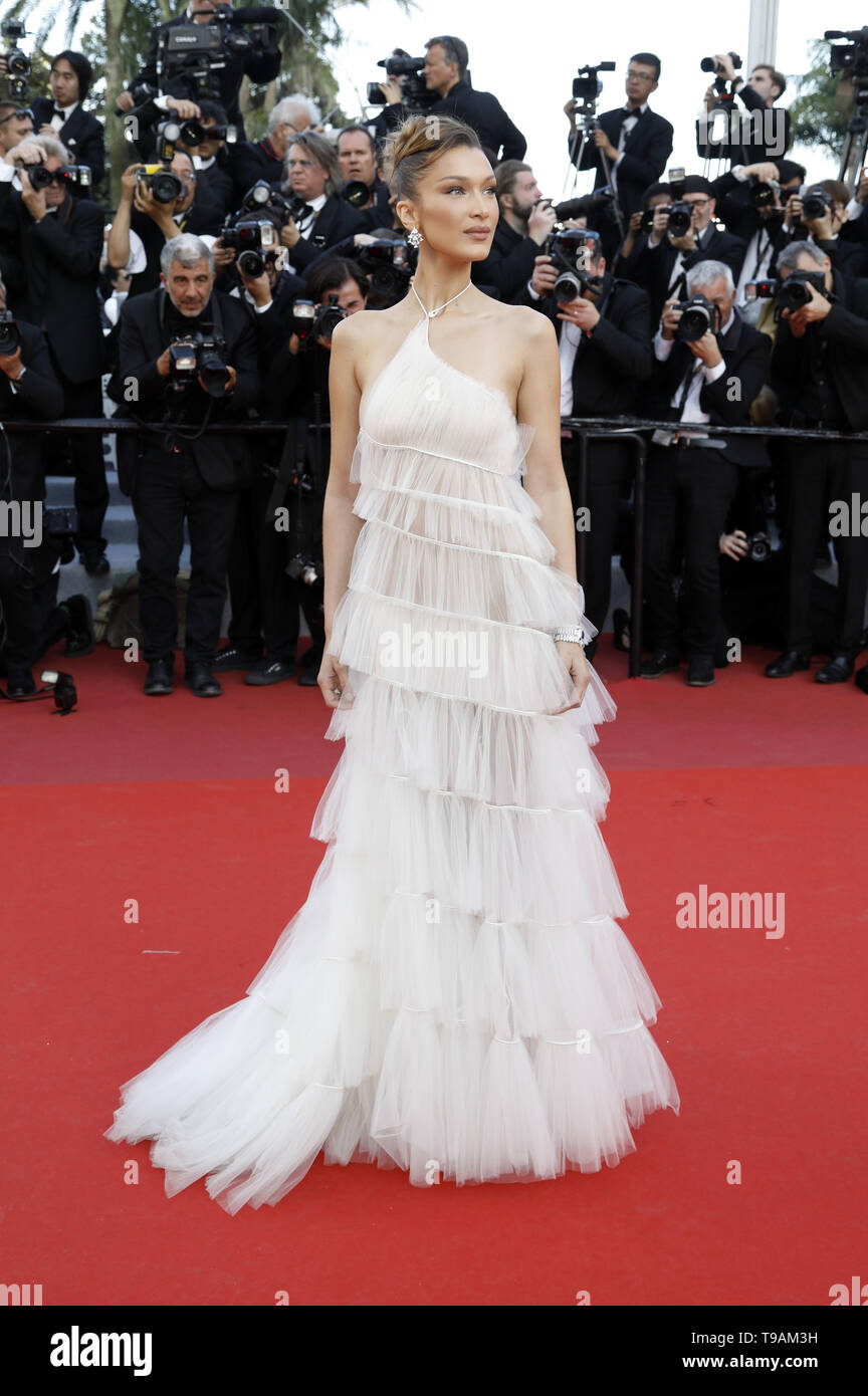 Bella Hadid attending the 'Rocketman' premiere during the 72nd Cannes Film Festival at the Palais des Festivals on May 16, 2019 in Cannes, France | usage worldwide Stock Photo