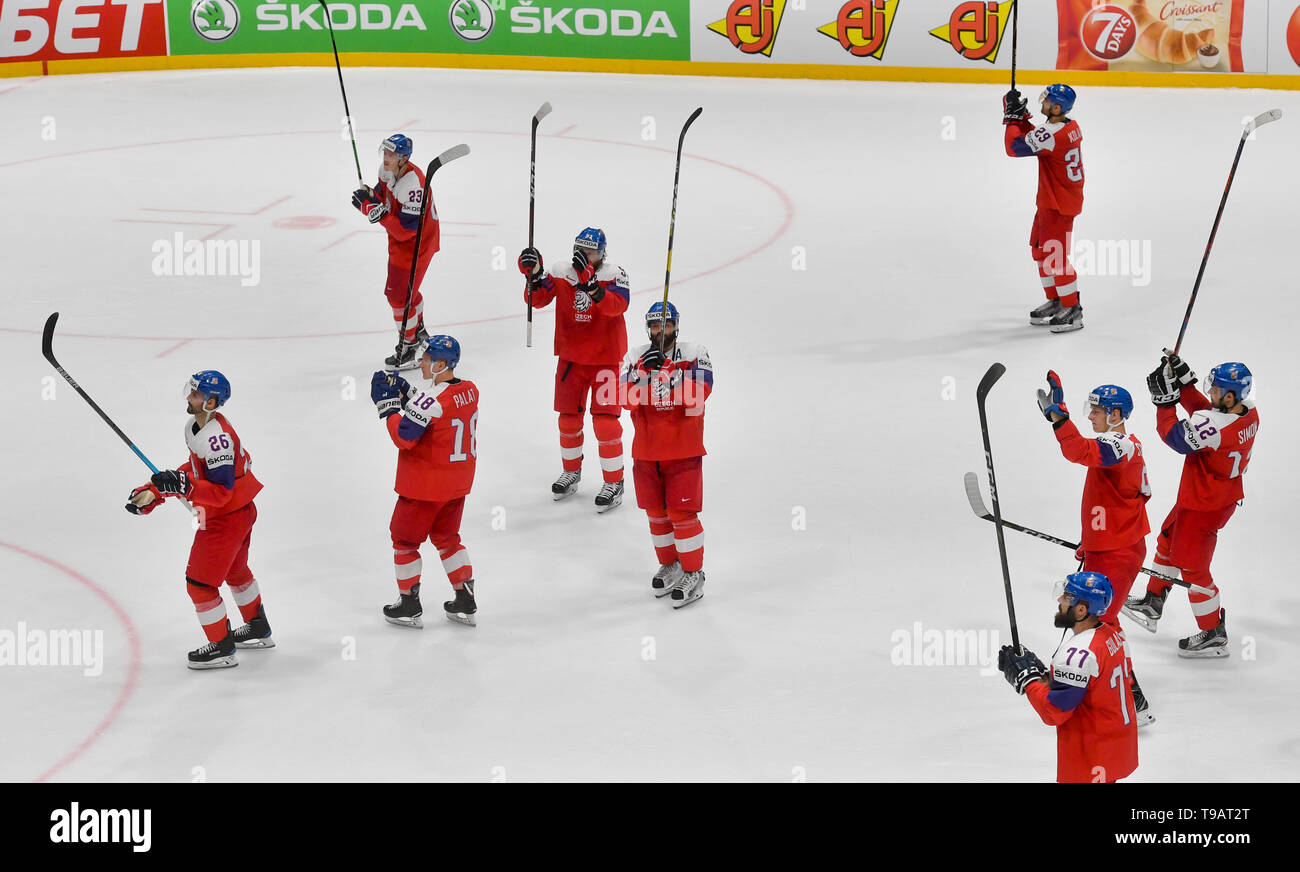 Bratislava Slovakia 17th May 2019 Hockey Players Of Czech