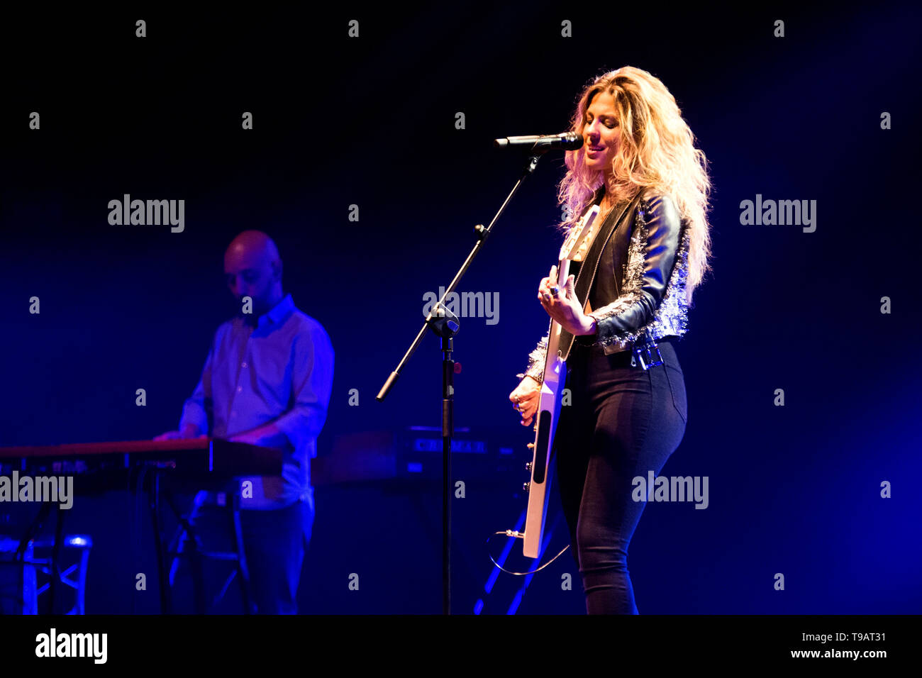 Gijon, Spain  17th May, 2019  Spanish singer Miriam Rodriguez