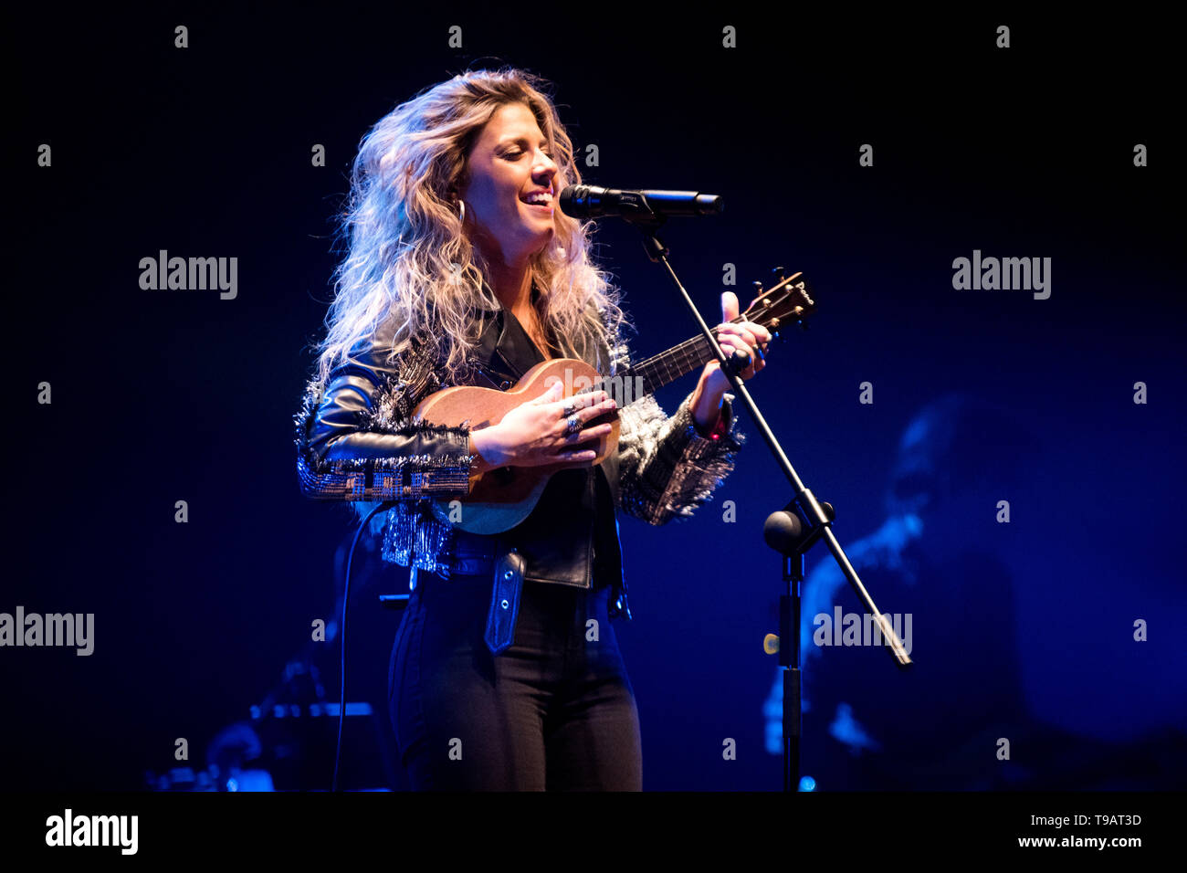 Gijon, Spain  17th May, 2019  Spanish singer Miriam
