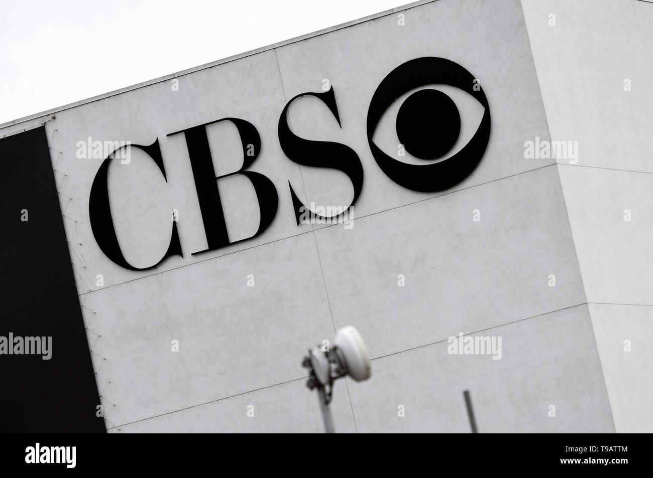 Los Angeles, CA, USA  14th Feb, 2019  CBS logo seen at the