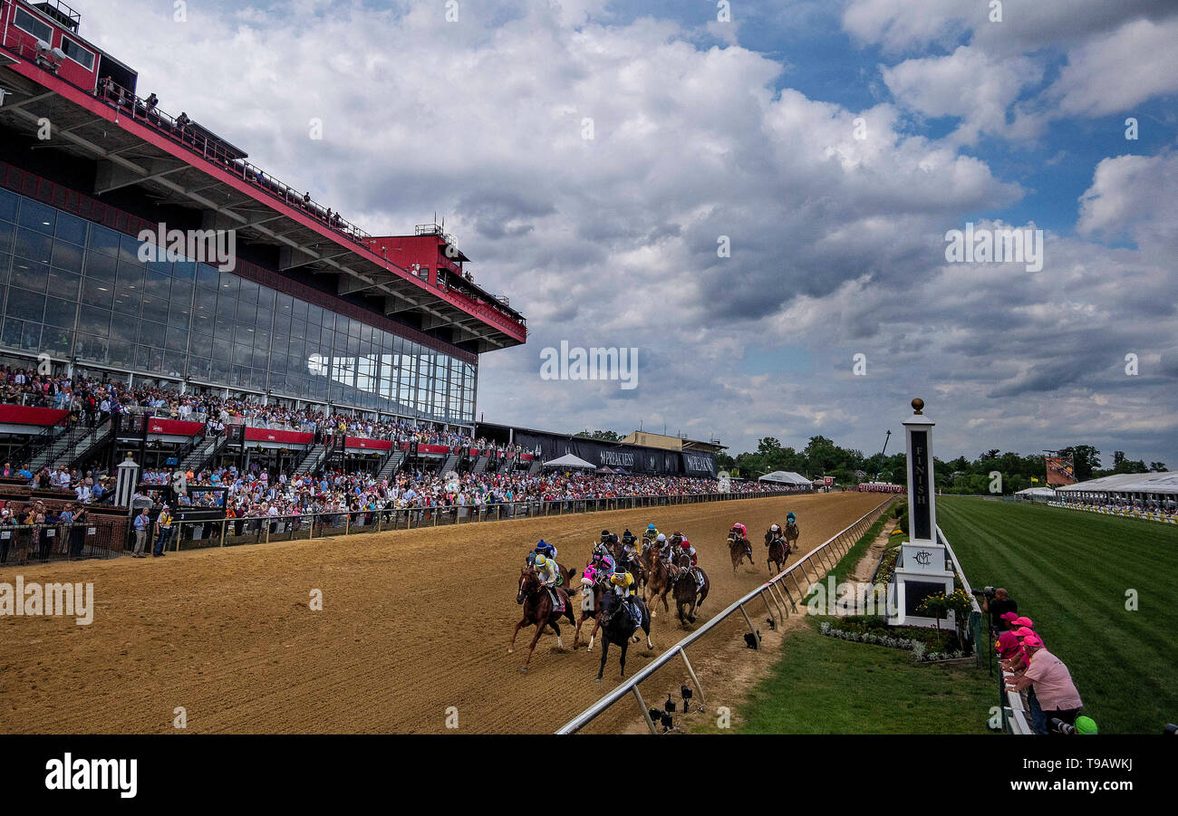 Baltimore, Maryland, USA. 17th May, 2019. MAY 17: The field for the Pimlico Special races at Pimlico Racecourse in Baltimore, Maryland on May 17, 2019. Evers/Eclipse Sportswire/CSM/Alamy Live News - Stock Image