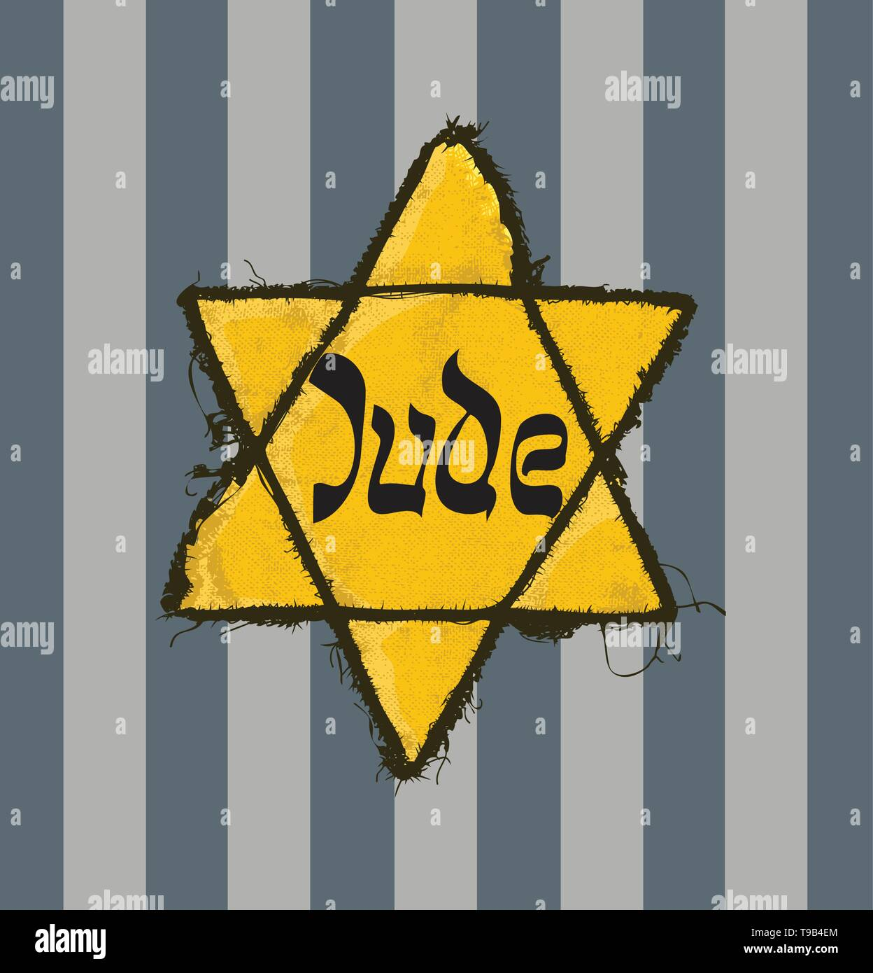 Holocaust Remembrance Day stamp set, May 5 - Stock Image