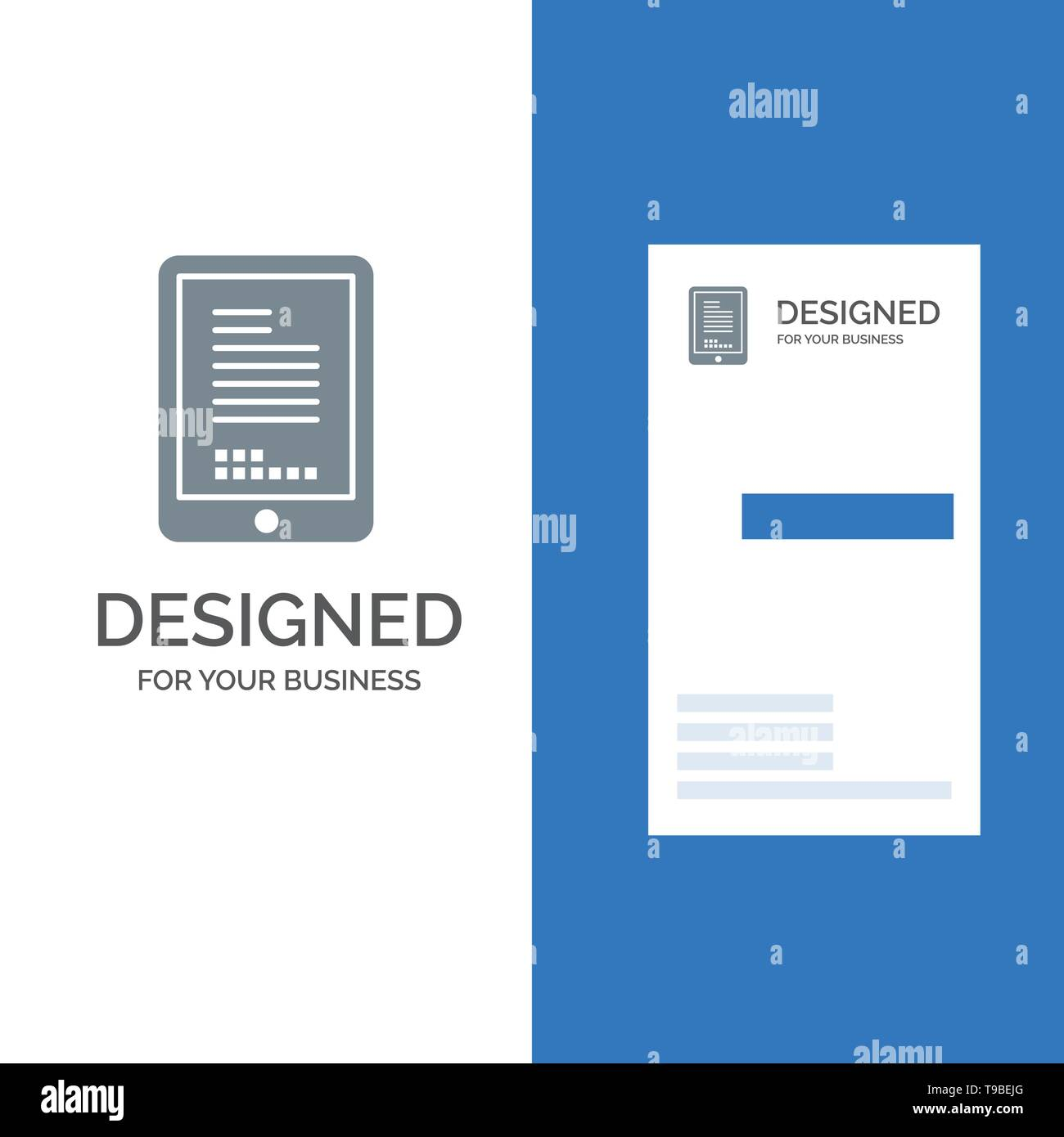 Mobile, Coding, Hardware, Cell Grey Logo Design and Business Card Template - Stock Image