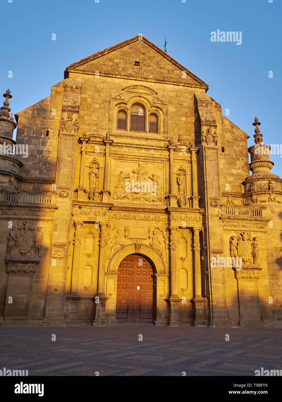 Church of El Salvador - Unesco World Heritage -. Úbeda, Jaén, Andalusia, Spain. Stock Photo