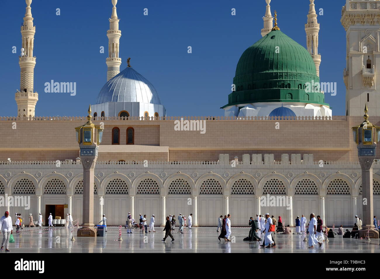 Pesona Masjid Nabawi Madinah - Stock Image