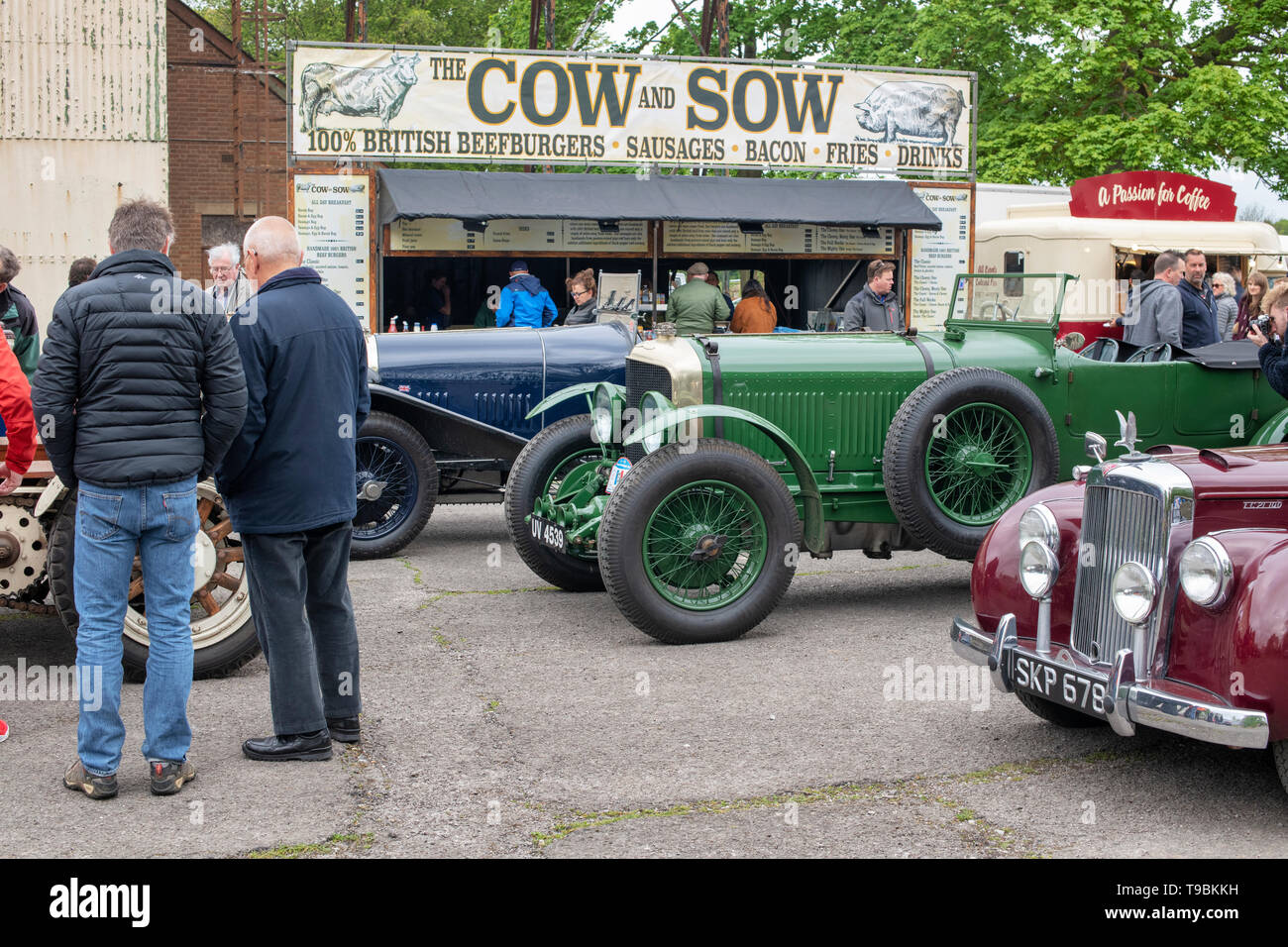 1928 Bentley car at Bicester Heritage Centre. 'Drive it day'. Bicester, Oxfordshire, England - Stock Image