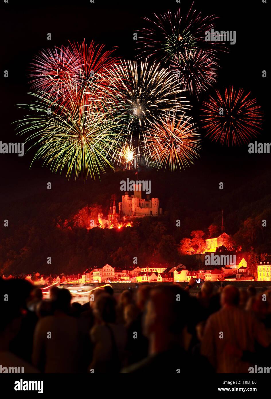 Rhein in Flammen (Rhine in Flames) , Germany - Stock Image