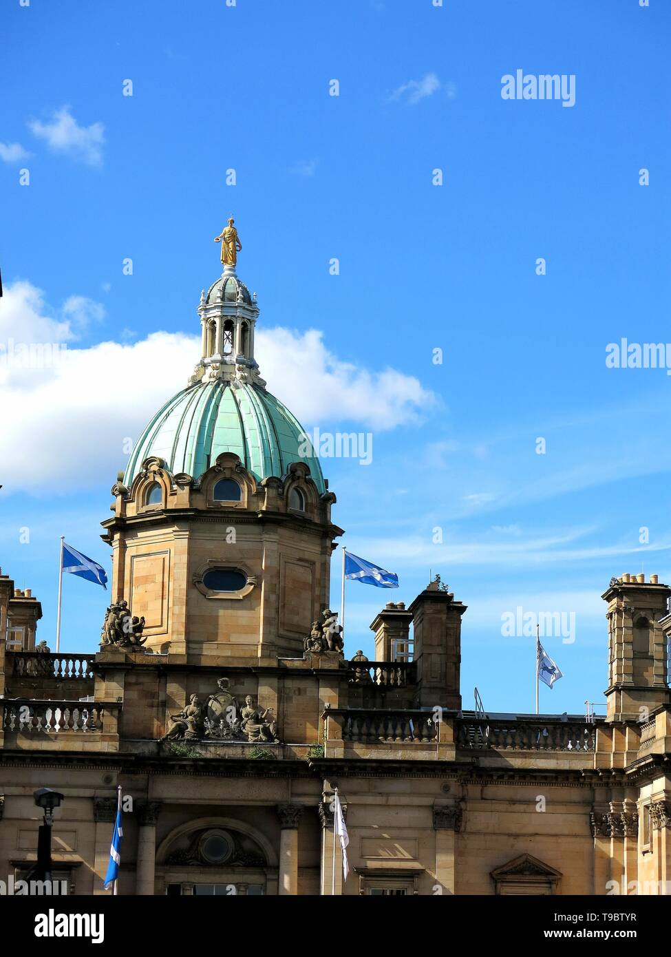 Dome of the building of the old bank of Scotland in Edinburgh, Scotland. - Stock Image