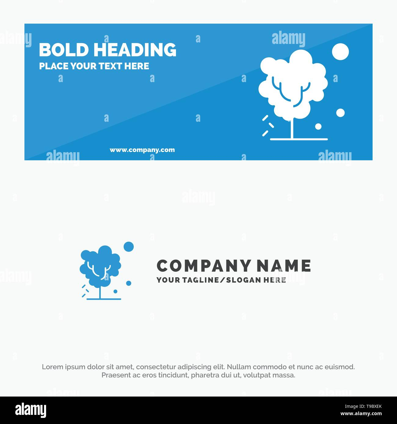 Dry, Global, Soil, Tree, Warming SOlid Icon Website Banner and Business Logo Template - Stock Image