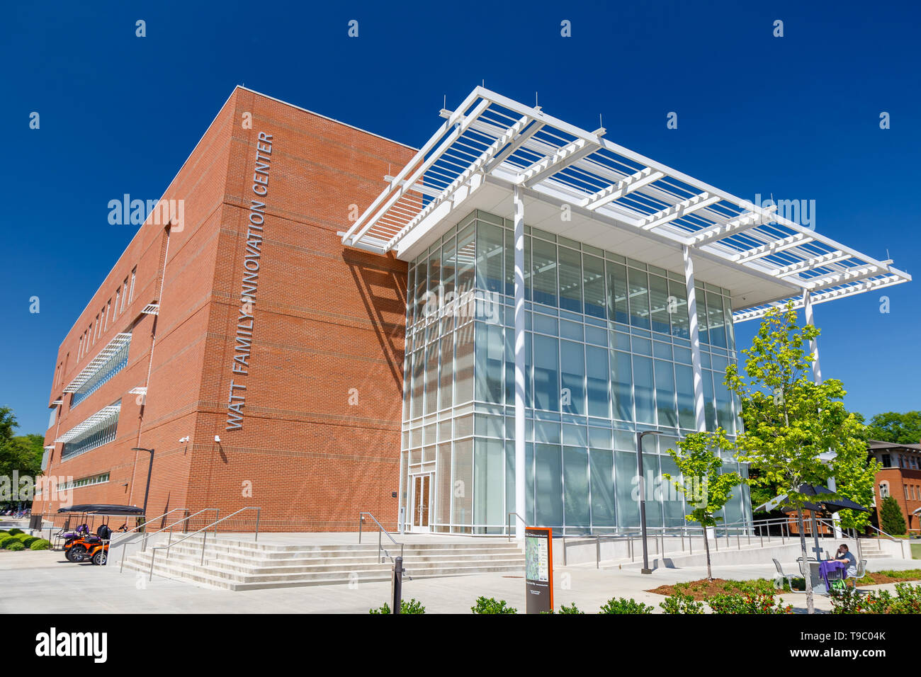 CLEMSON, SC, USA - May 2: Wyatt Family Innovation Center at Clemson University on May 2, 2019 in Clemson, South Carolina. - Stock Image