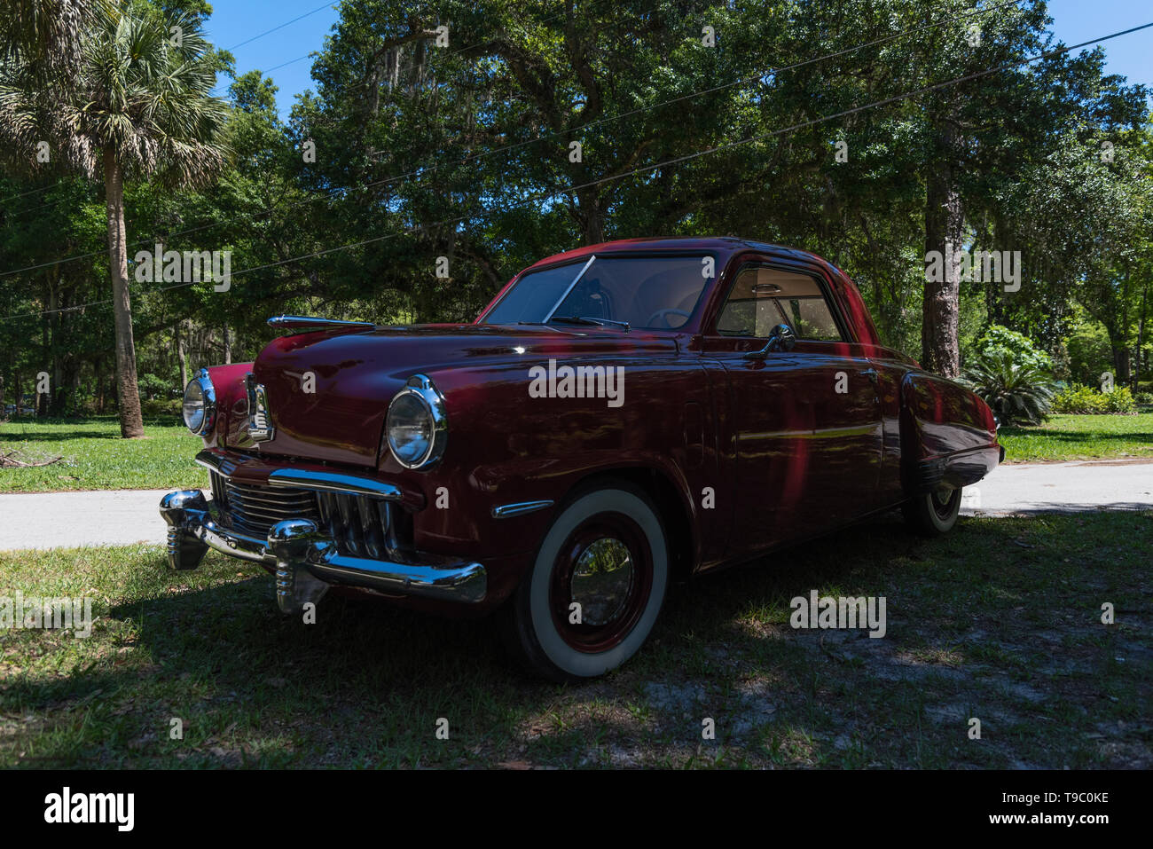 1947 Studebaker Champion Business Coupe Flat Head six cylinder - Stock Image