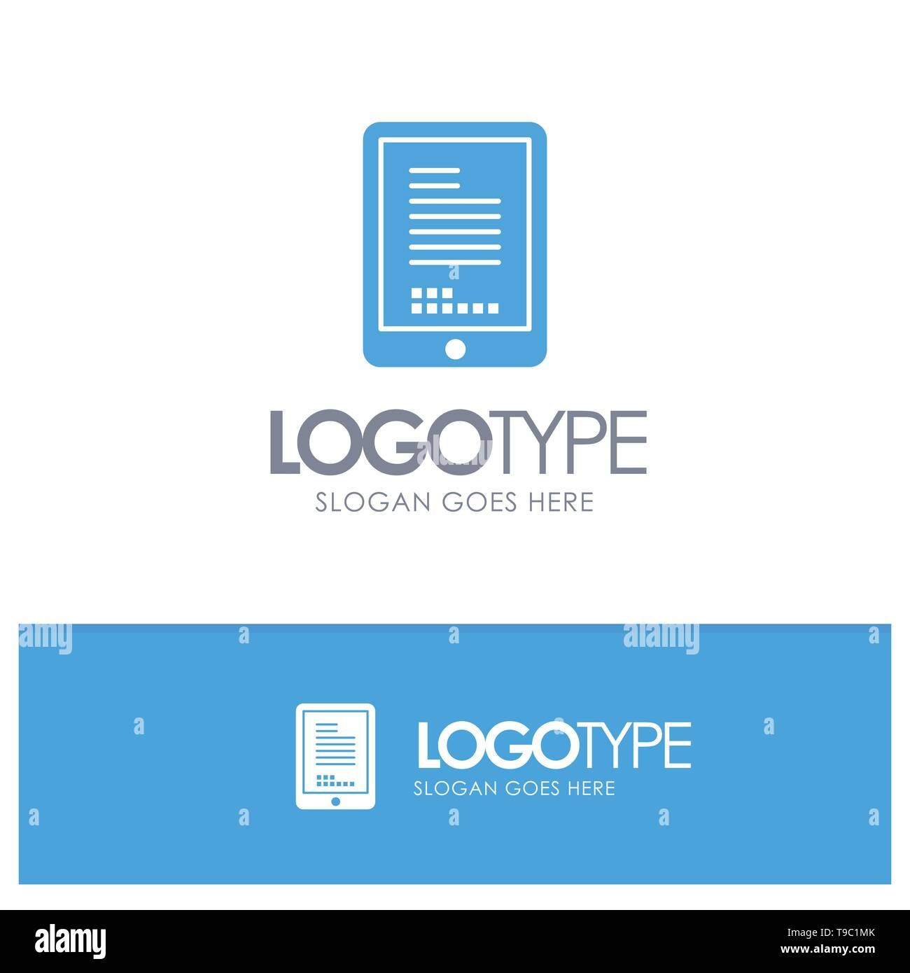 Mobile, Coding, Hardware, Cell Blue Logo vector - Stock Image