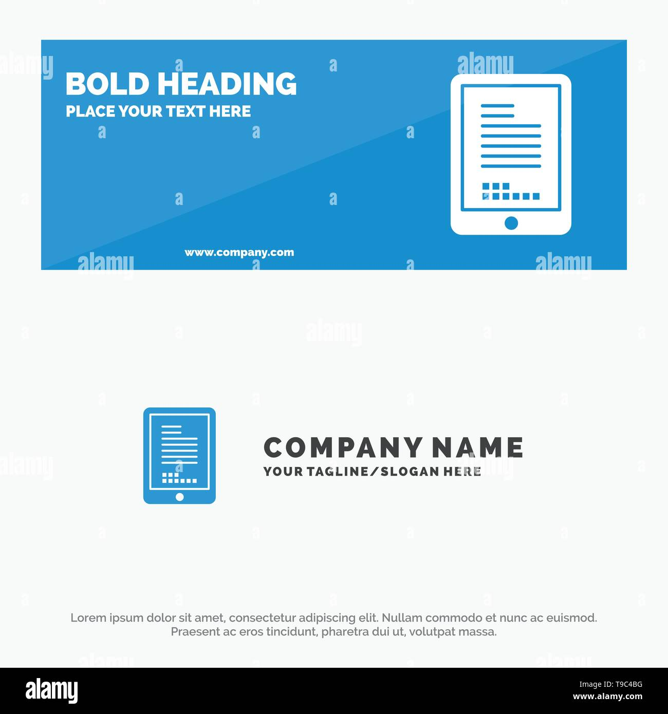 Mobile, Coding, Hardware, Cell SOlid Icon Website Banner and Business Logo Template - Stock Image