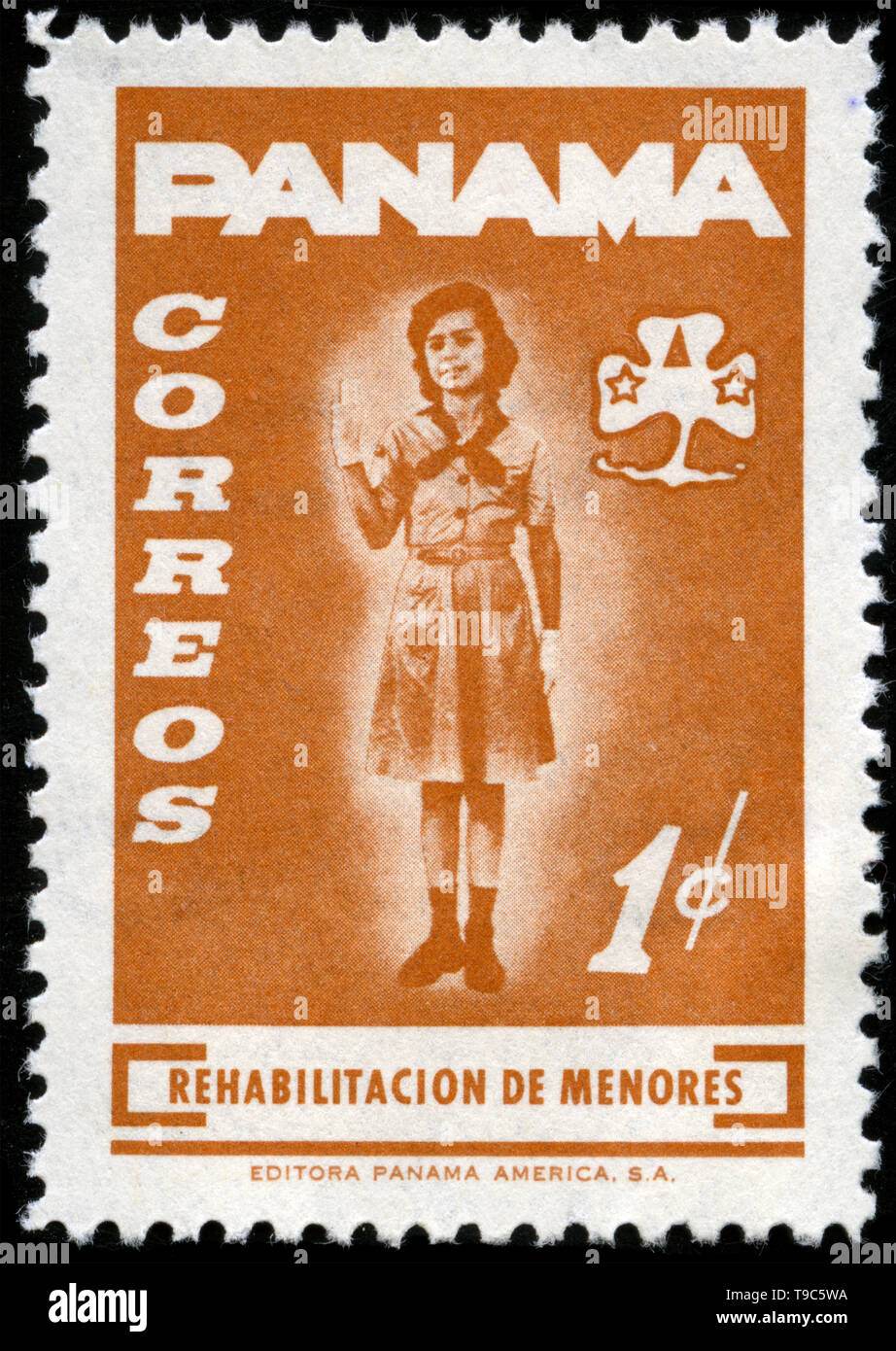 Postage stamp from Panama in the Youth rehabilitation fund series issued in 1964 - Stock Image