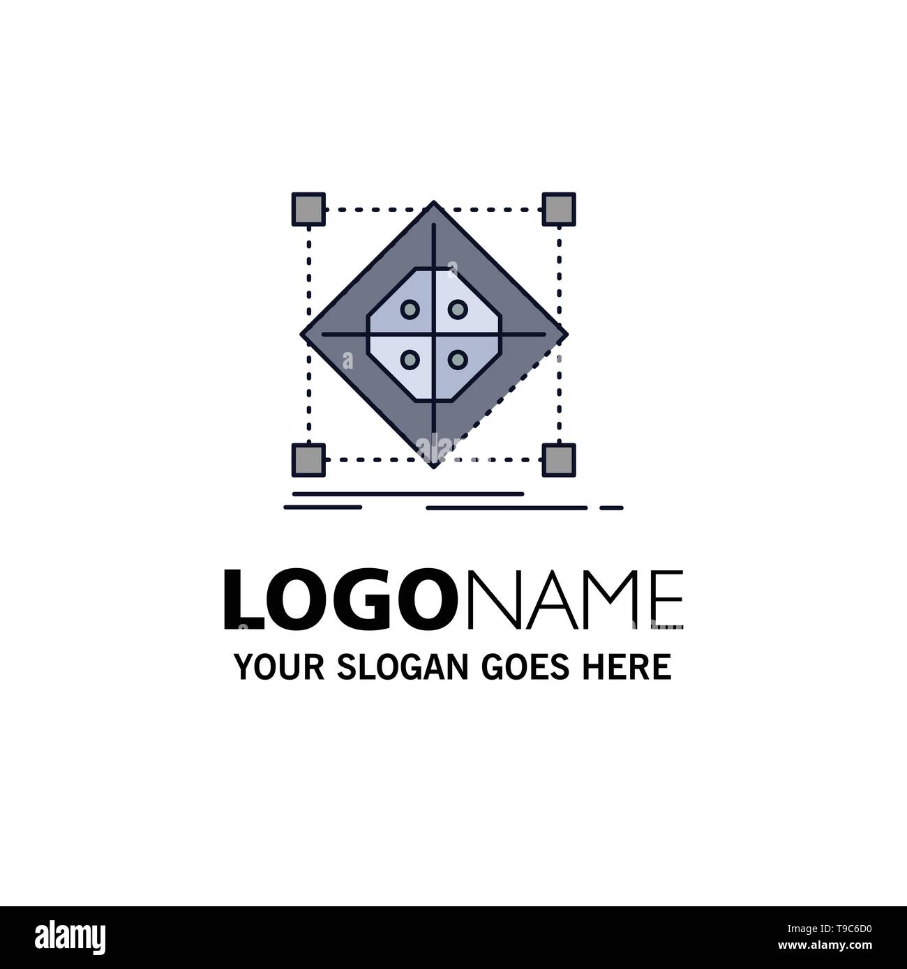 Architecture, cluster, grid, model, preparation Flat Color Icon Vector - Stock Image