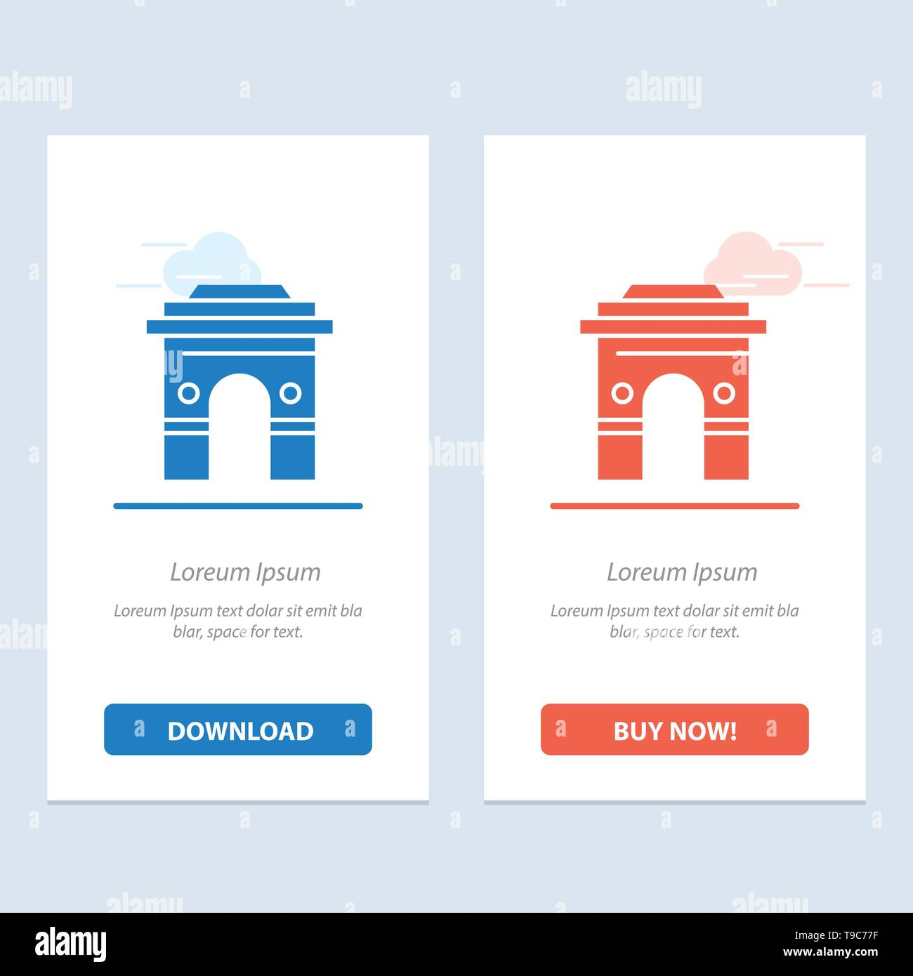 Culture, Global, Hinduism, India, Indian, Srilanka, Temple  Blue and Red Download and Buy Now web Widget Card Template - Stock Image