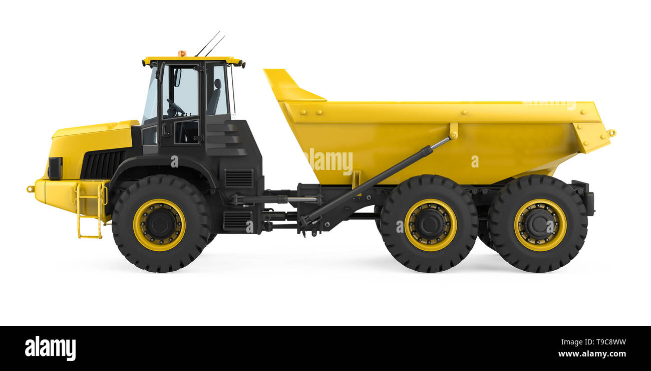 Articulated Dump Truck Isolated - Stock Image