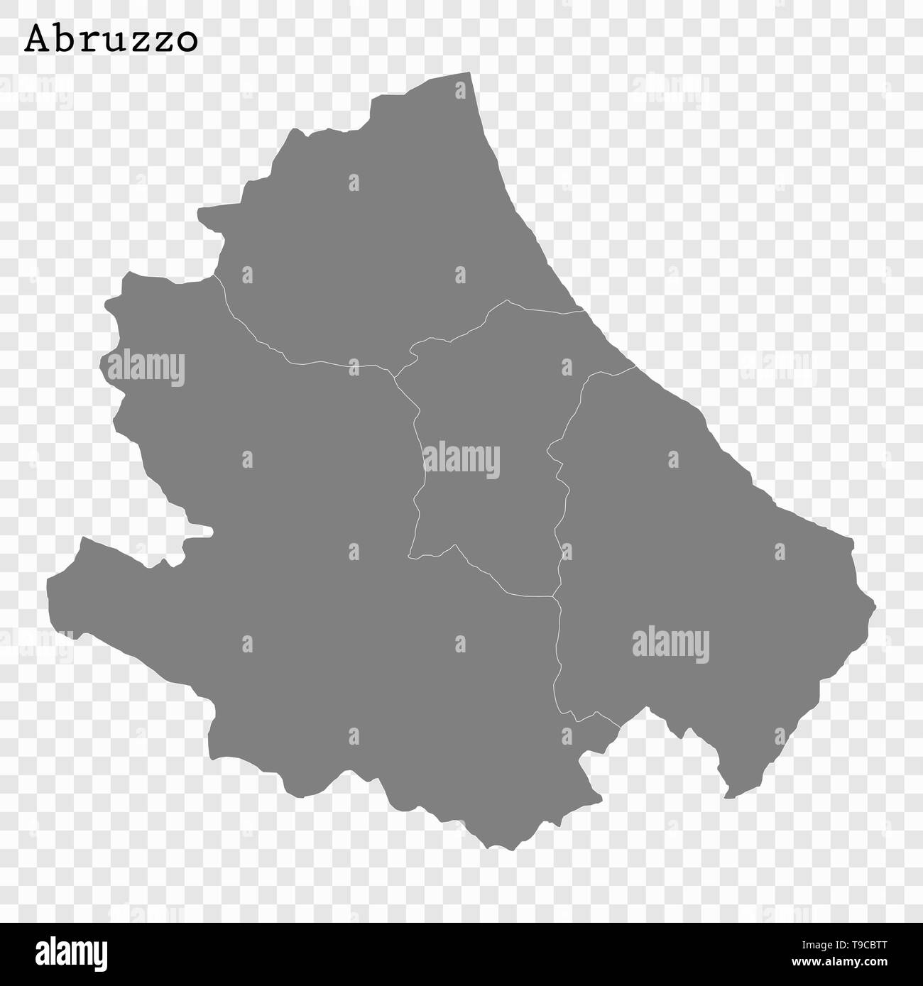 Picture of: High Quality Map Of Abruzzo Is A State Of Italy With Borders Of The Districts Stock Vector Image Art Alamy