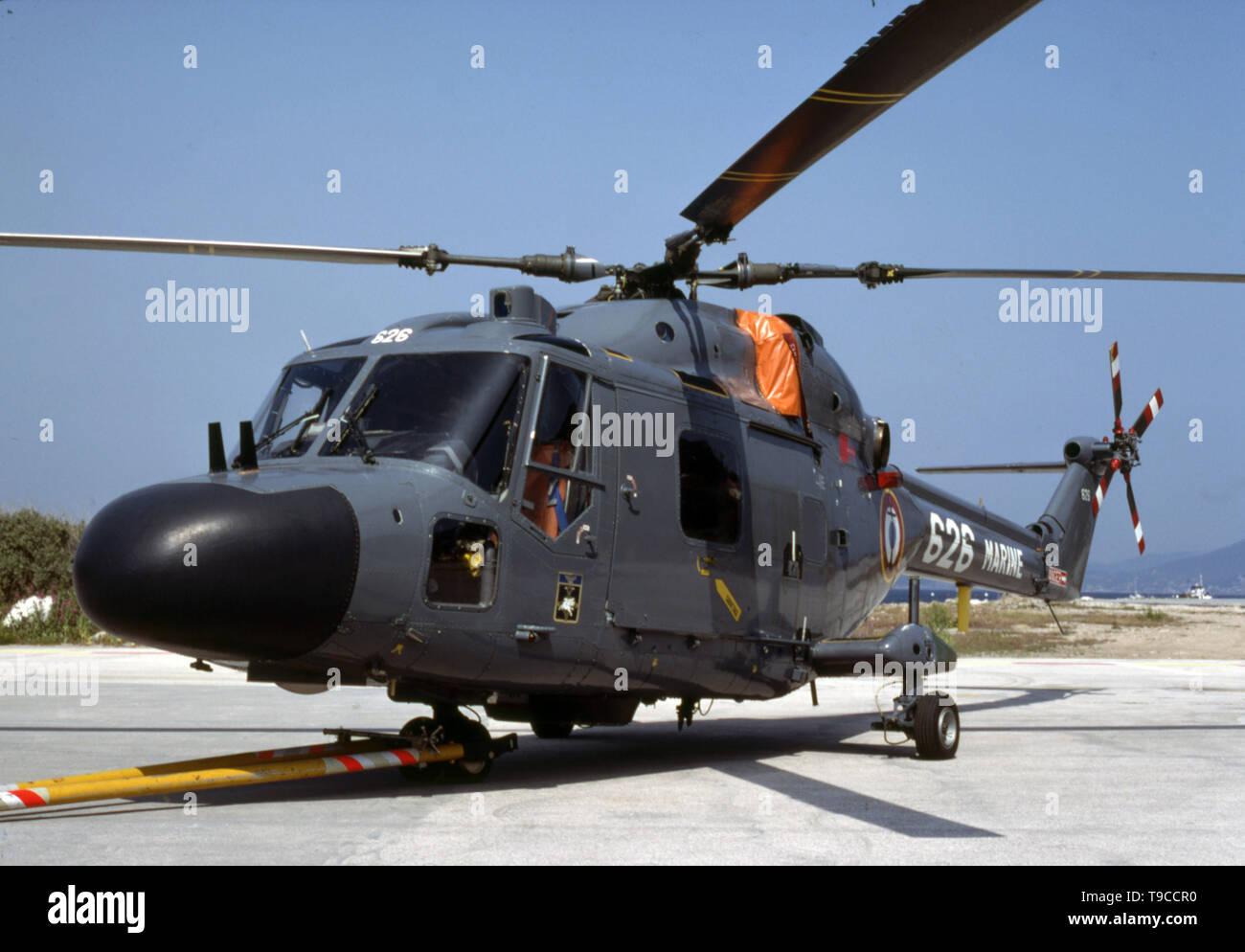 Französische Marine / French Navy / Marine Nationale Westland Lynx - Stock Image