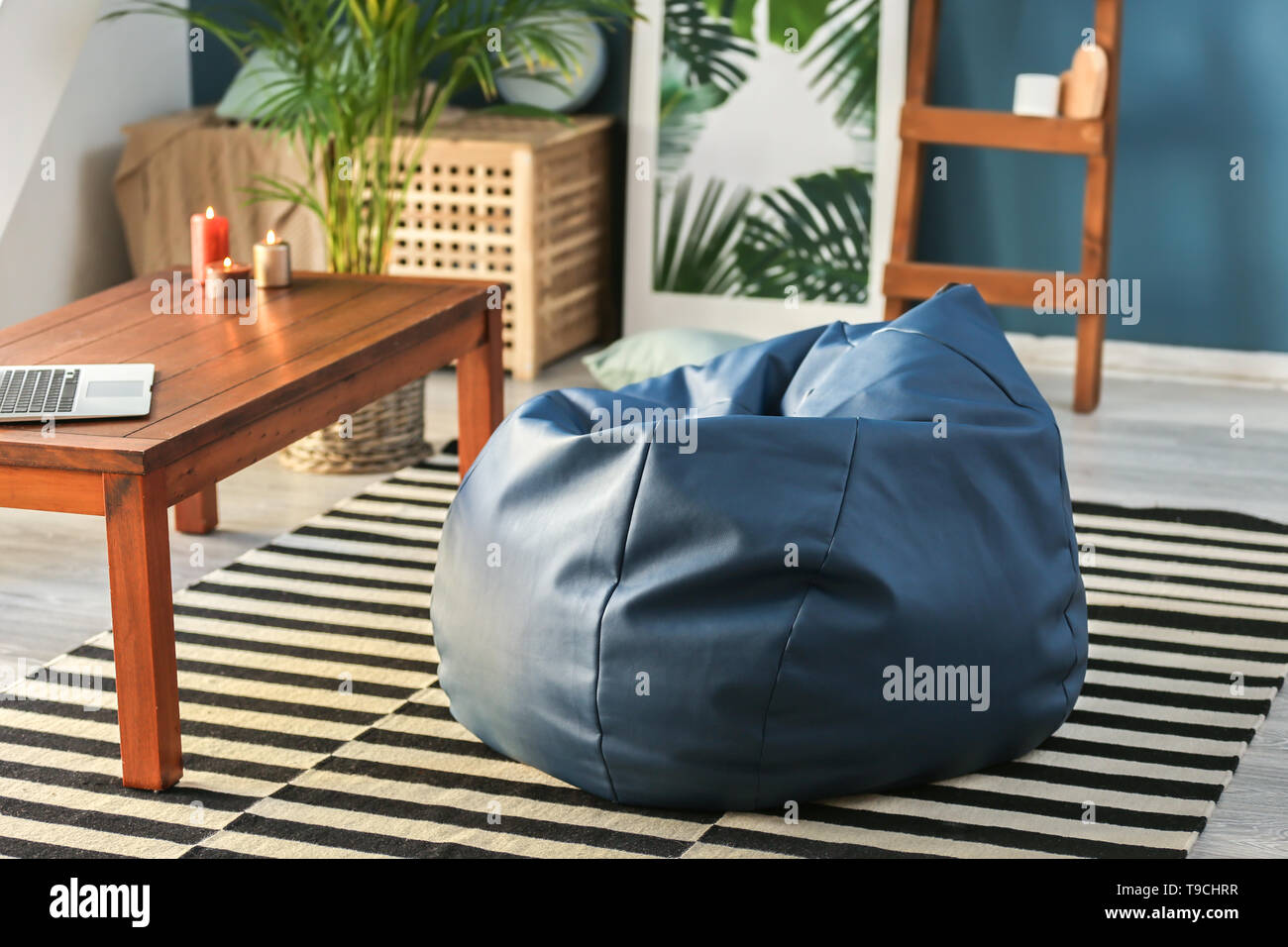 Prime Beanbag Chair In Interior Of Room Stock Photo 246754475 Alamy Pabps2019 Chair Design Images Pabps2019Com