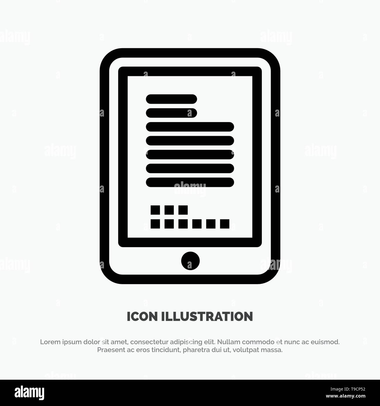 Mobile, Coding, Hardware, Cell Vector Line Icon - Stock Image