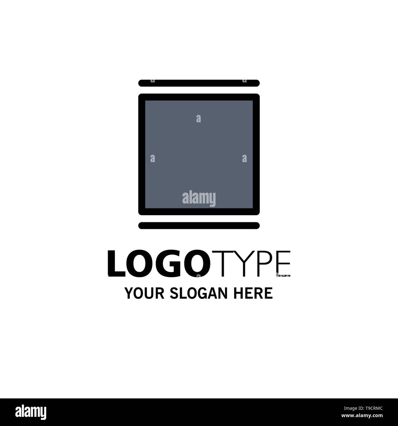 Gallery, Instagram, Sets, Timeline Business Logo Template. Flat Color - Stock Image