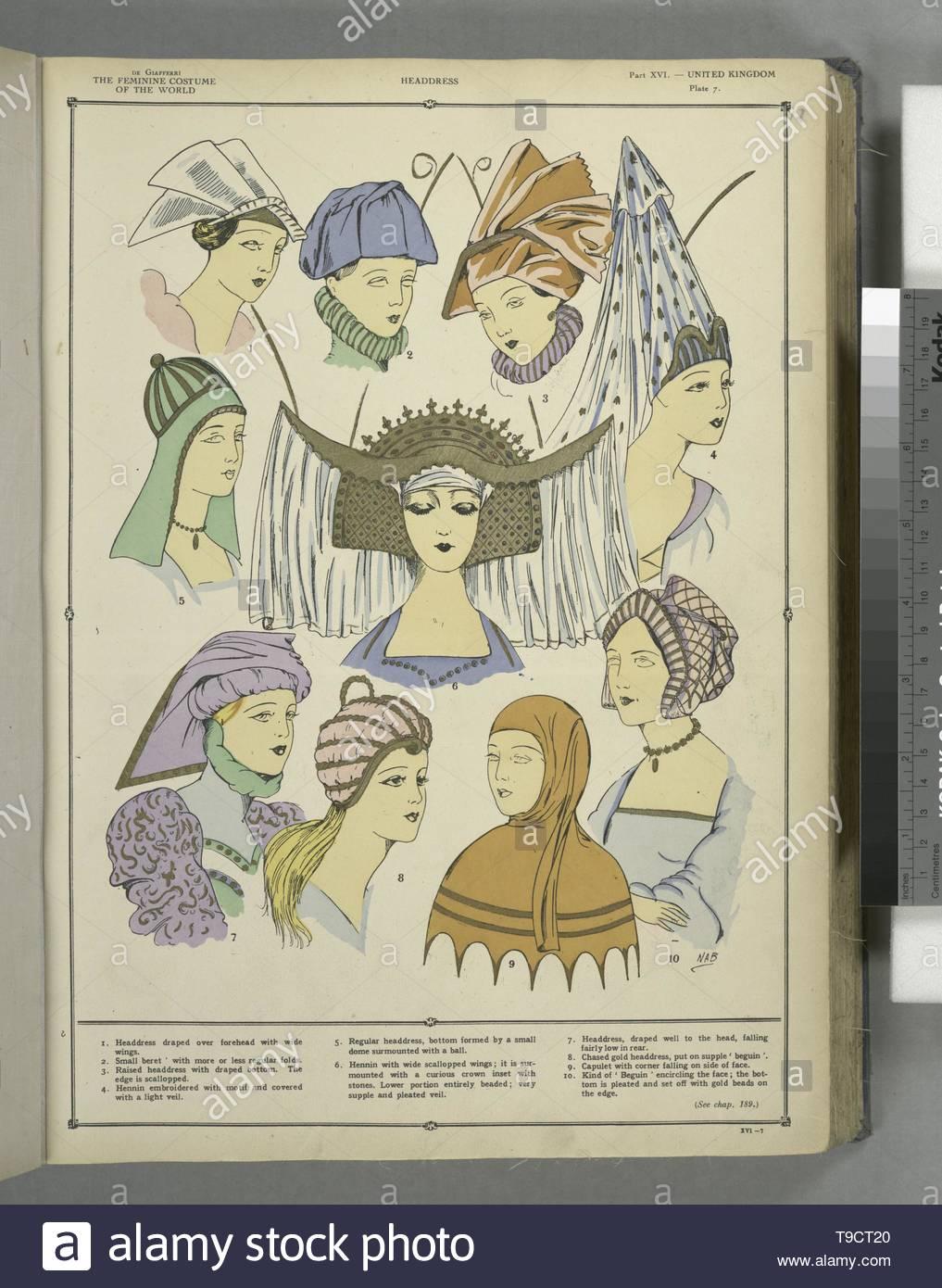 Giafferri,PaulLouisde,b 1886-Headdress - Stock Image