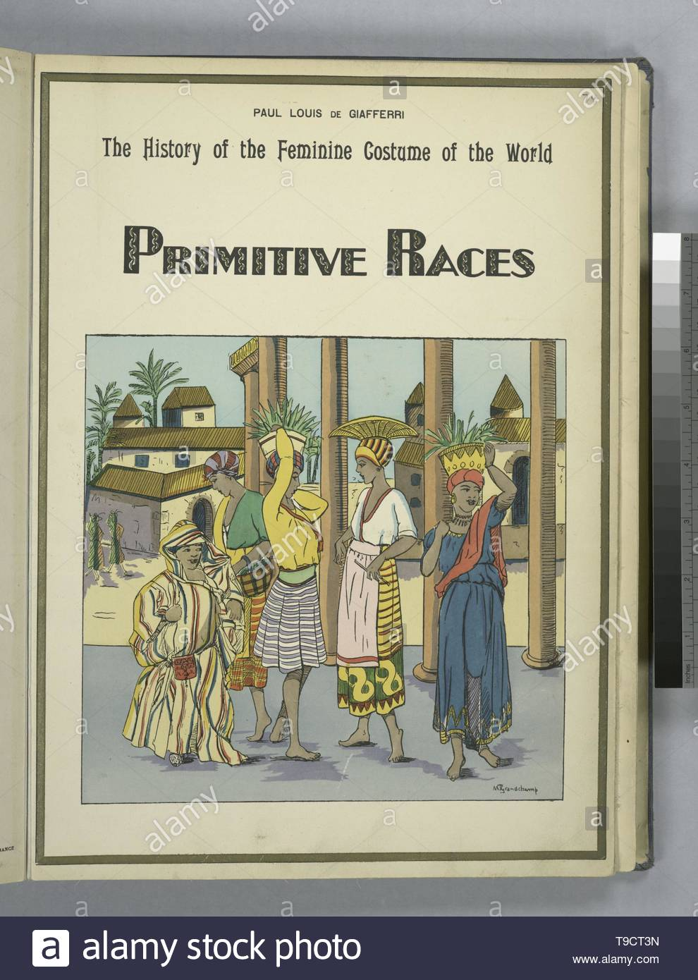 Giafferri,PaulLouisde,b 1886-The history of the feminine costume of the world  Primitive races - Stock Image